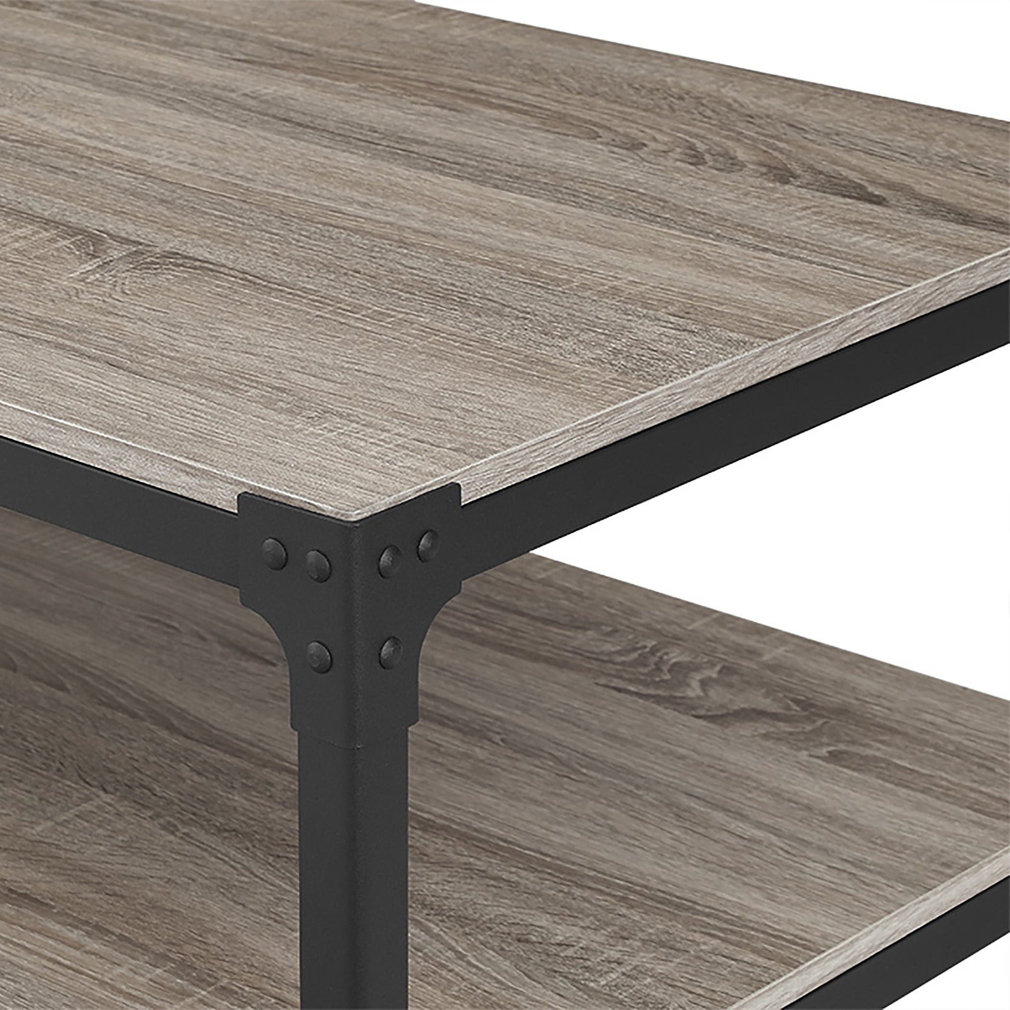Most Current Carbon Loft Witten Angle Iron And Driftwood Coffee Tables Inside Carbon Loft Witten Angle Iron And Driftwood Coffee Table – 48 X 24 X 18H (View 9 of 20)