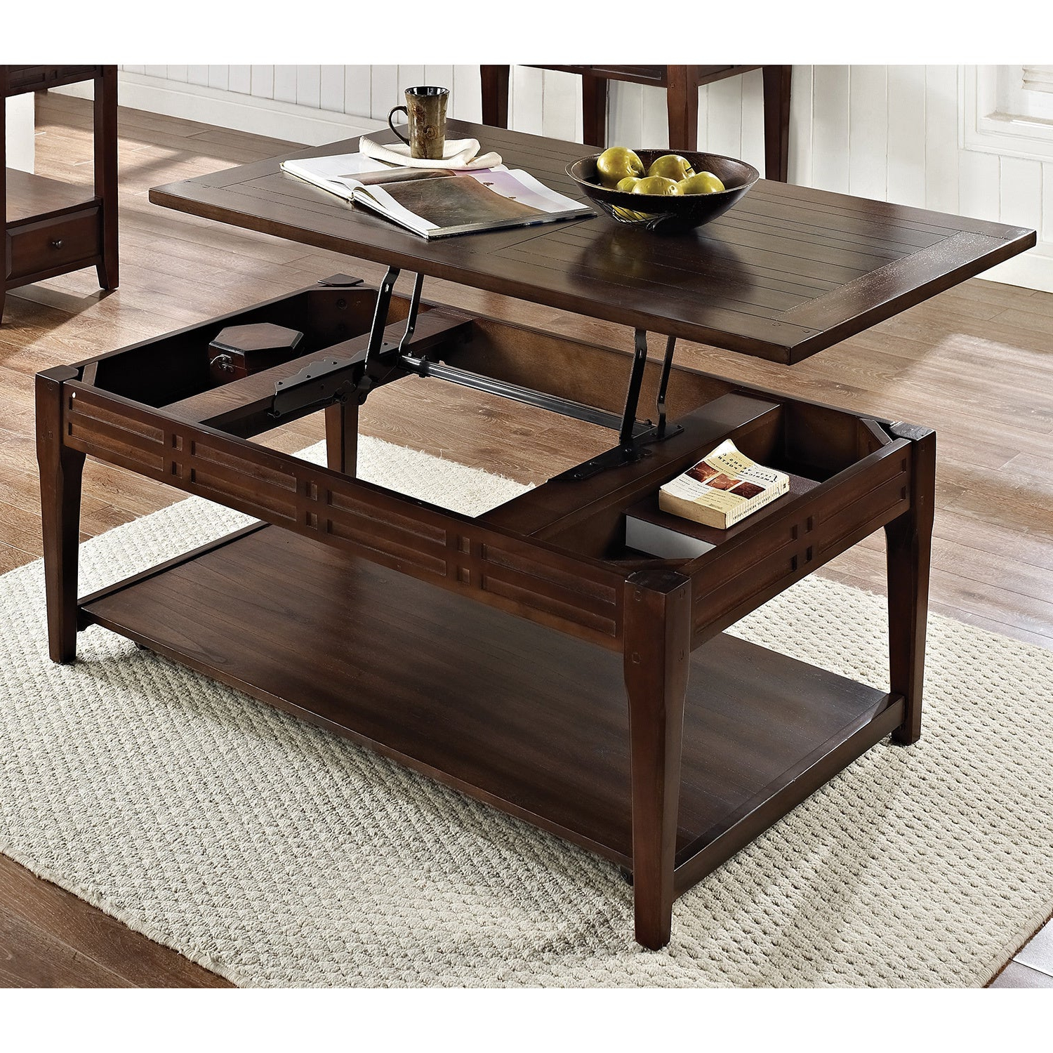 Most Current Copper Grove Bowron Dark Cherry Coffee Tables Intended For Copper Grove Vallee Mocha Cherry Lift Top Coffee Table With Casters (View 7 of 20)