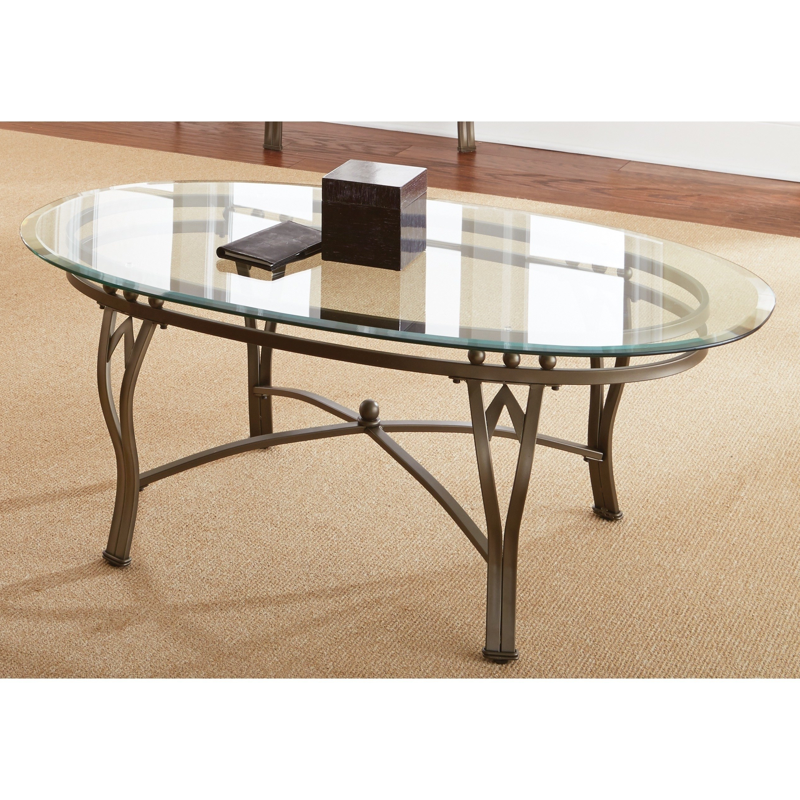 Featured Photo of Copper Grove Woodend Glass Top Oval Coffee Tables