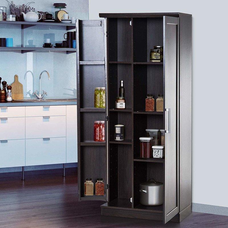 "Most Current Eduarda 72"" Kitchen Pantry Regarding Eduarda Kitchen Pantry (View 13 of 20)"