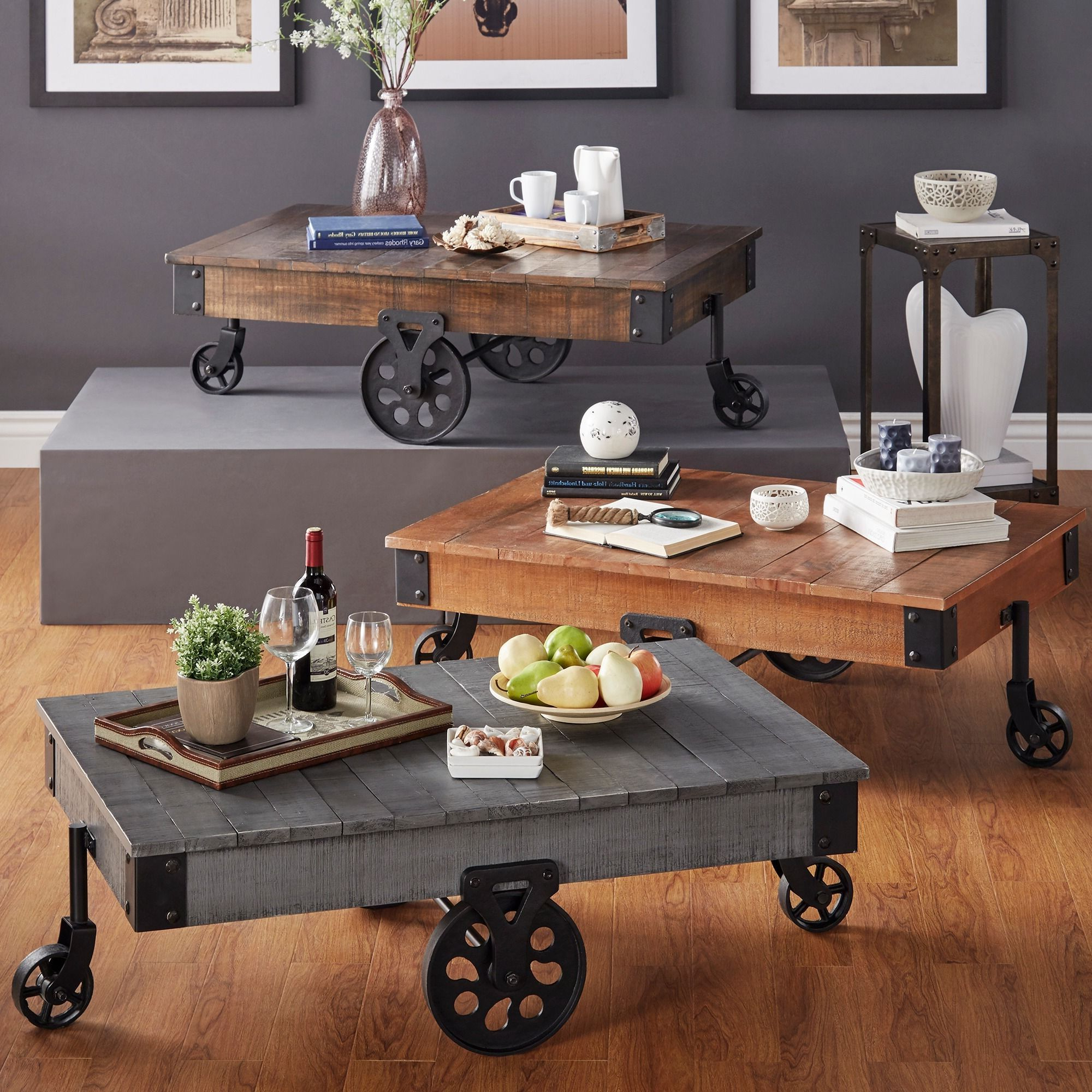 Most Current Myra Vintage Industrial Modern Rustic 47 Inch Coffee Tables Throughout Myra Vintage Industrial Modern Rustic 47 Inch Coffee Table (View 6 of 20)