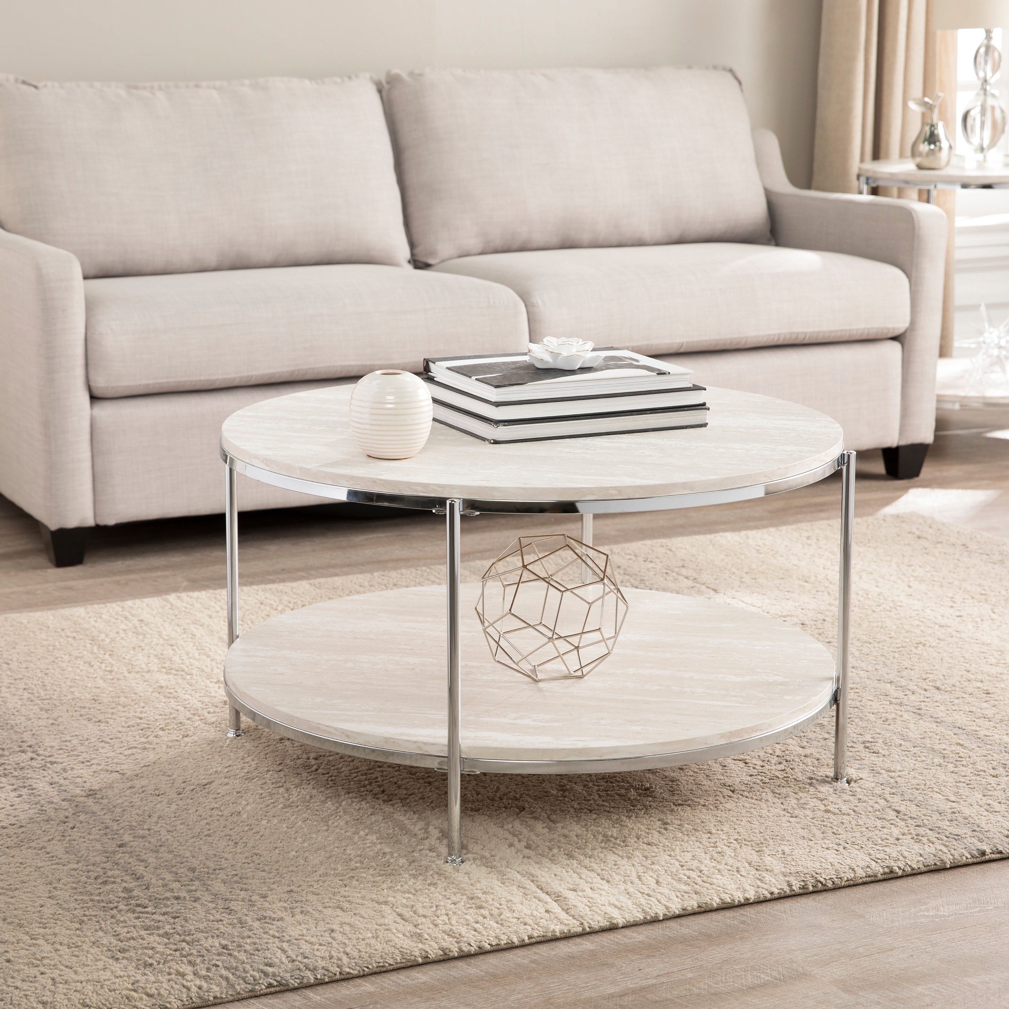 Most Current Silver Orchid Henderson Faux Stone Round End Tables For Silver Orchid Henderson Round Faux Stone Cocktail Table (View 10 of 20)