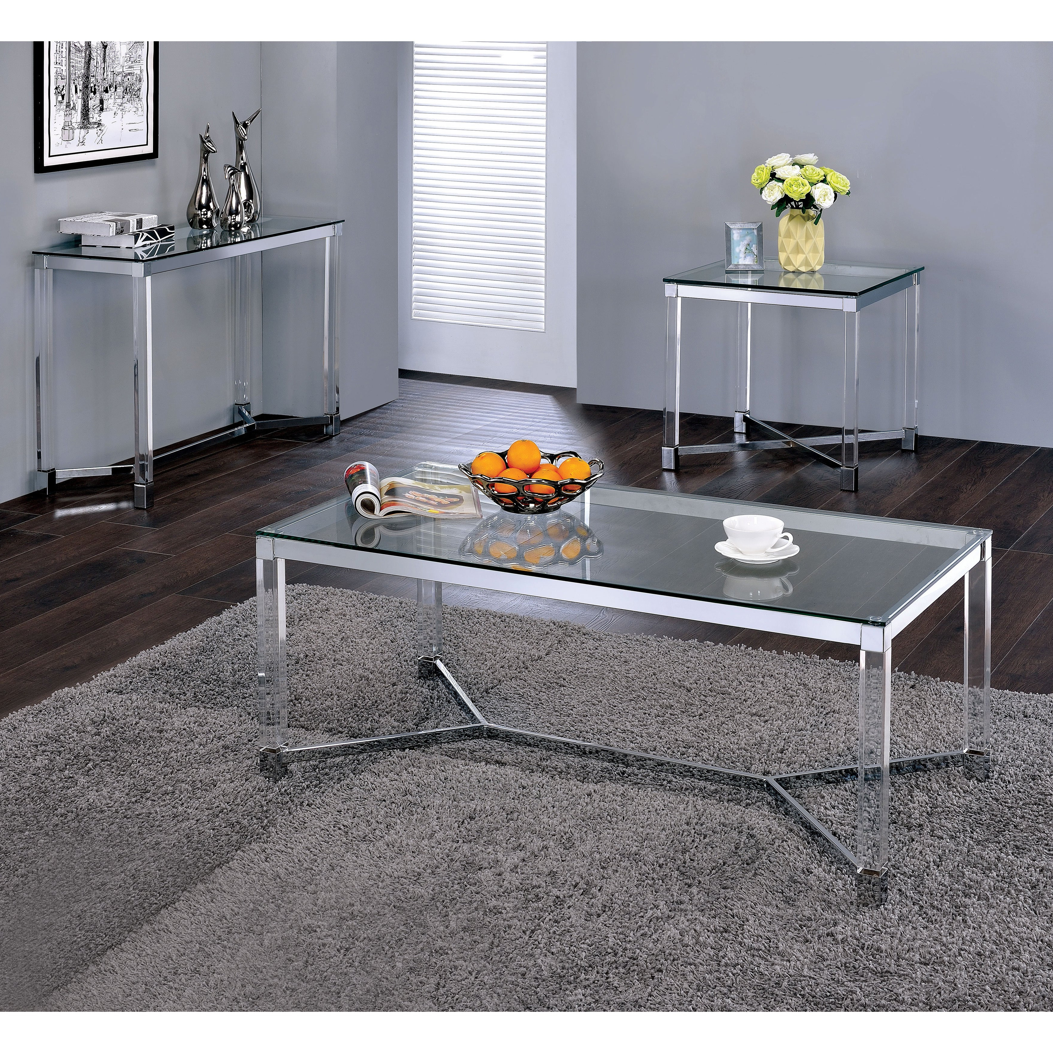 Most Current Thalberg Contemporary Chrome Coffee Tables By Foa With Rayna Contemporary Chrome Tempered Glass Coffee Tablefoa (View 9 of 20)