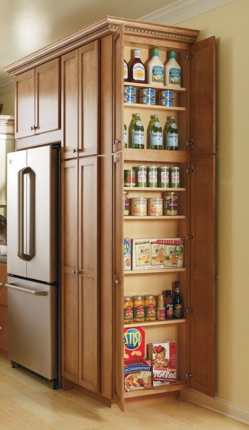 Most Current This Utility Cabinet's Adjustable Shelves Make Storing All Throughout Kidd Kitchen Pantry (View 11 of 20)
