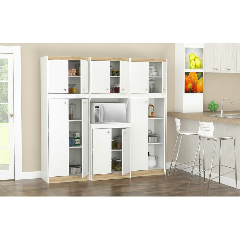 Most Popular Amaia 3 Piece Kitchen Pantry With Regard To Amaia 3 Piece Kitchen Pantry (View 13 of 20)
