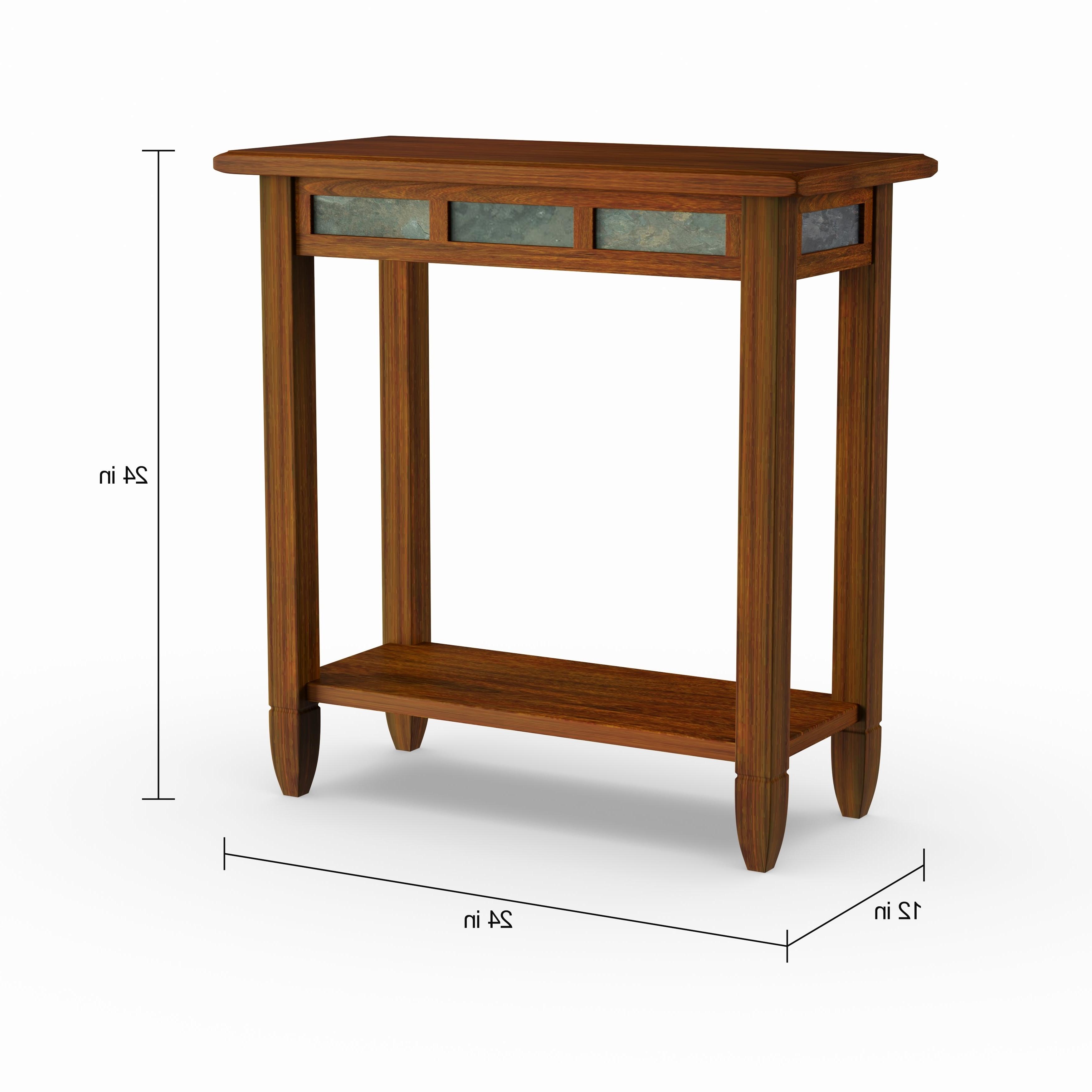 Most Popular Copper Grove Ixia Rustic Oak And Slate Tile Coffee Tables Regarding Copper Grove Ixia Rustic Oak And Slate Tile Chairside Table (View 3 of 20)