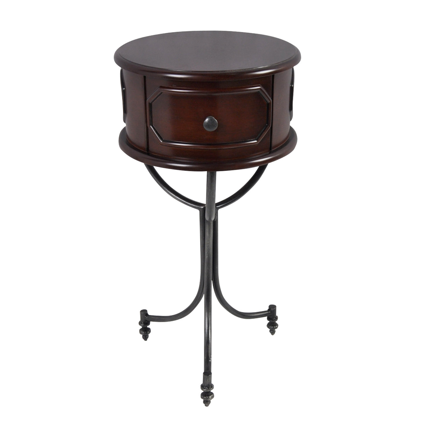 Most Popular Copper Grove Lantana Coffee Tables Inside Matthew Drum End Table (View 13 of 20)