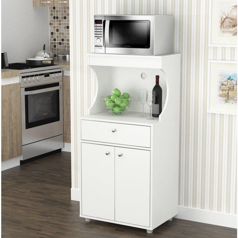 "Most Popular Elliana Storage 50"" Kitchen Pantry Pertaining To Blanken Kitchen Pantry (View 7 of 20)"