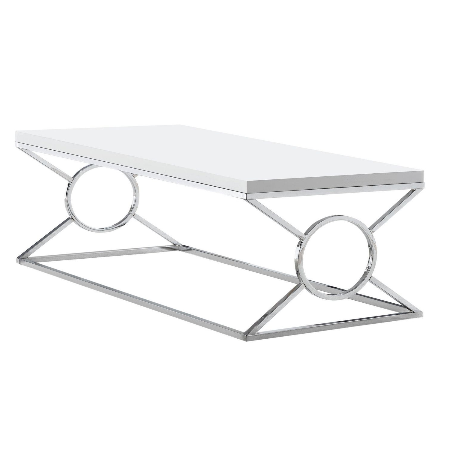 Most Popular Glossy White Hollow Core Tempered Glass Cocktail Tables With Regard To Monarch Specialties Inc Monarch Specialties Coffee Table (View 20 of 20)