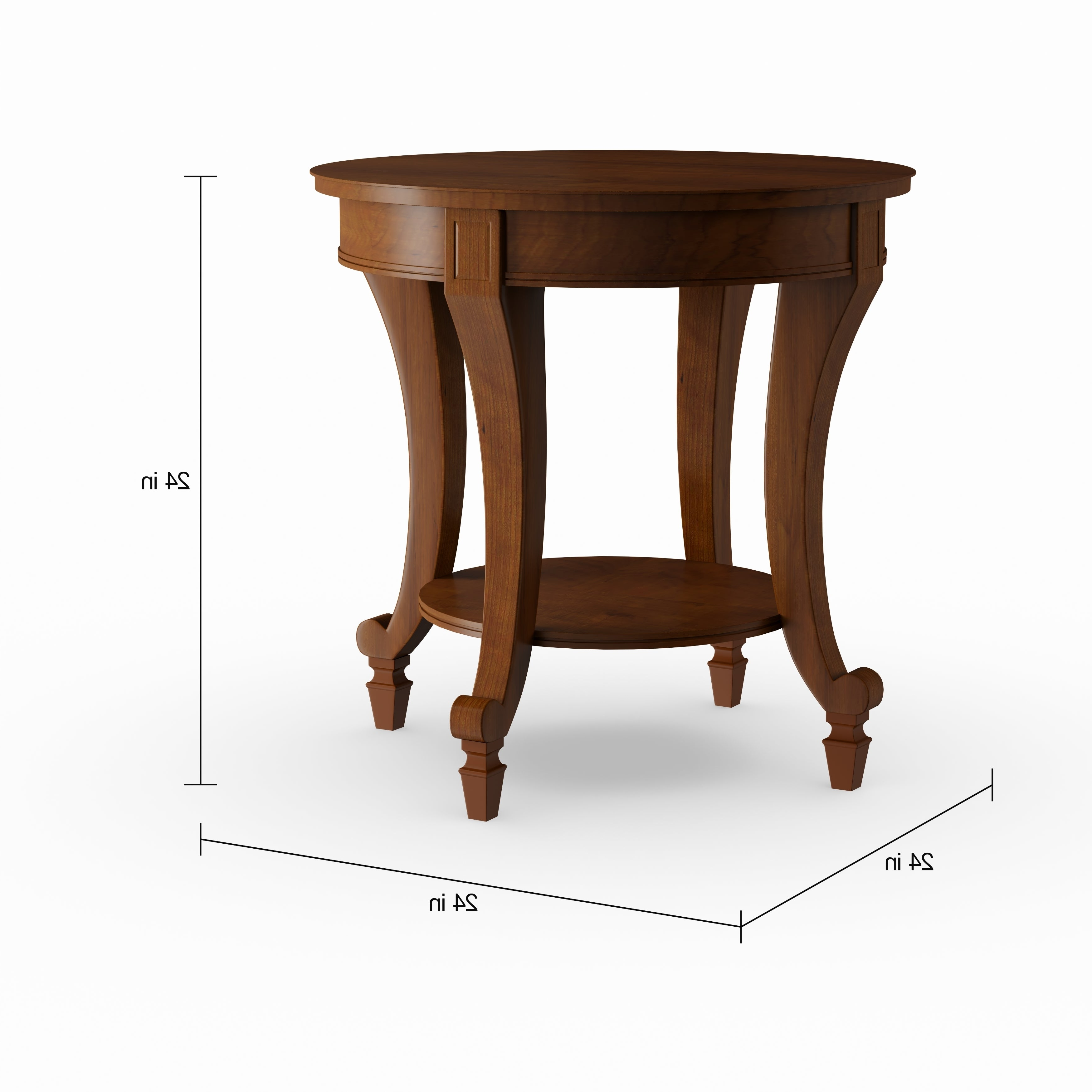 Most Popular Gracewood Hollow Dones Traditional Cinnamon Round End Tables Within Gracewood Hollow Dones Traditional Cinnamon Round End Table (View 5 of 20)