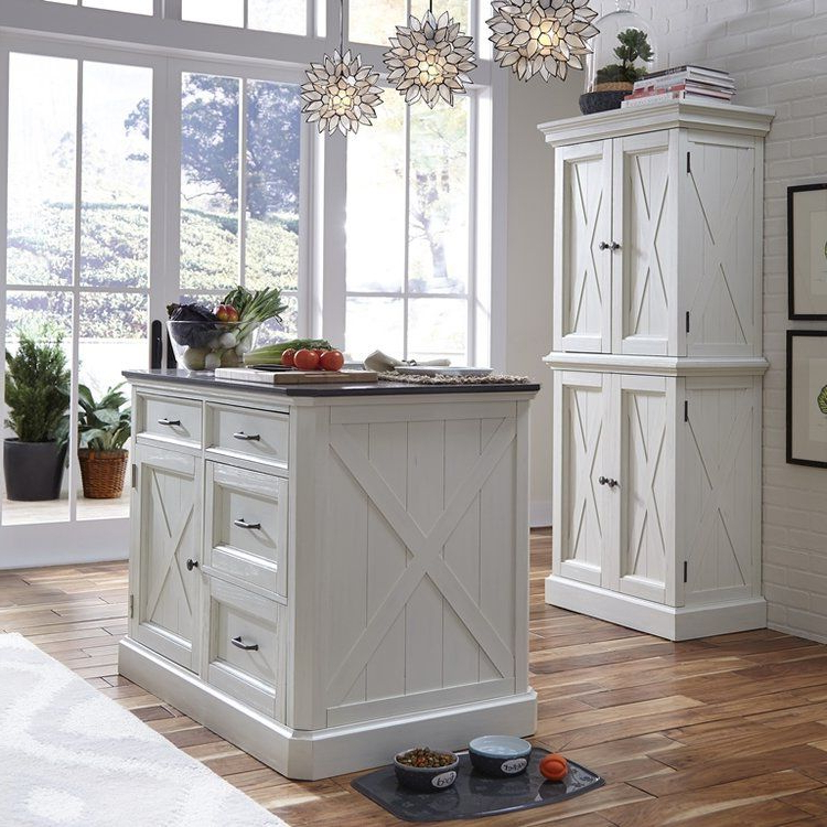 Most Popular Laurel Foundry Modern Farmhouse Moravia Kitchen Island With For Moravia Kitchen Pantry (View 16 of 20)