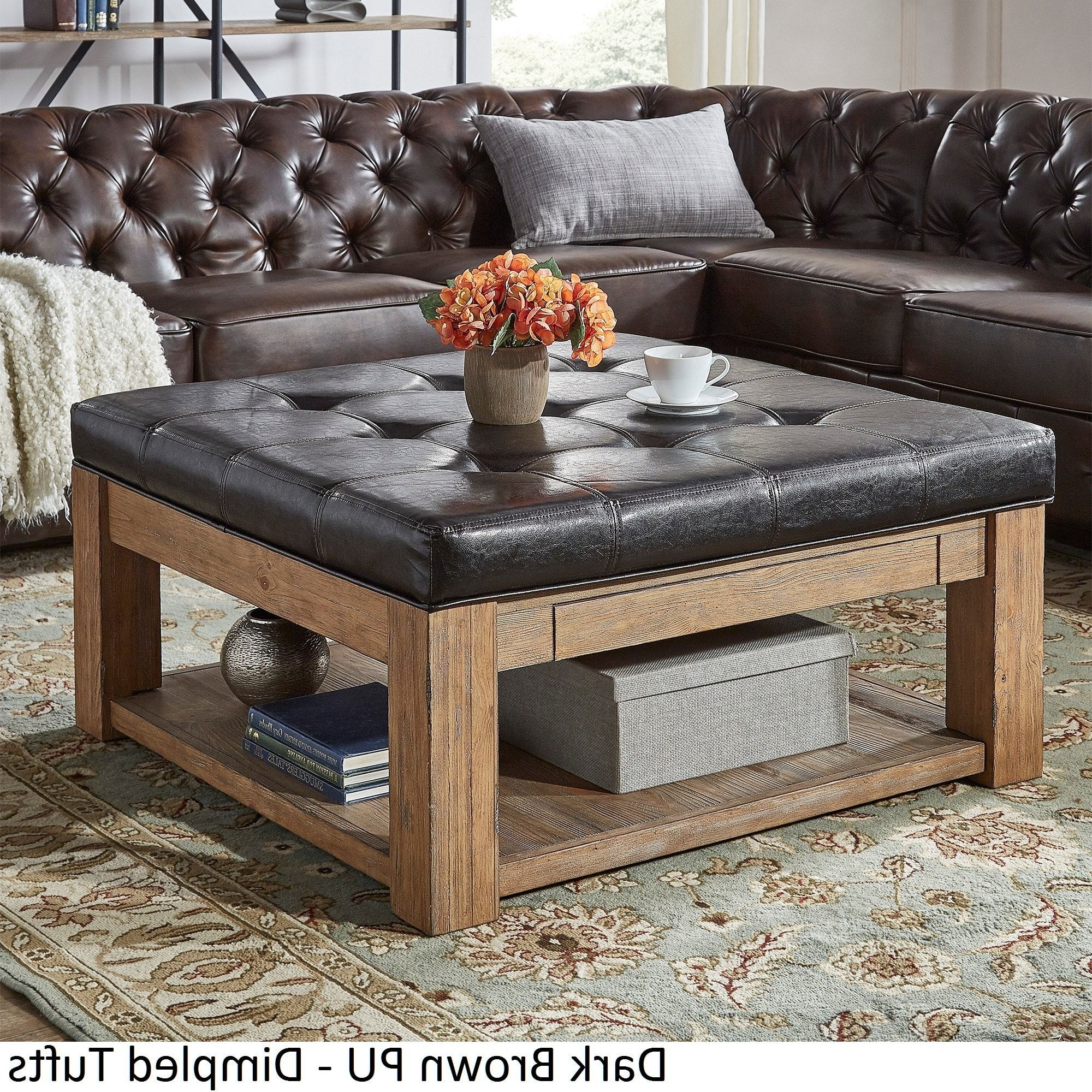 Most Popular Lennon Pine Square Storage Ottoman Coffee Tables Throughout Lennon Pine Square Storage Ottoman Coffee Tableinspire Q (View 12 of 20)