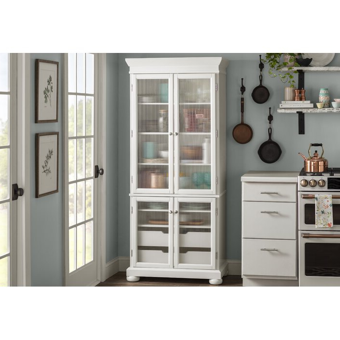 "Most Popular Mihika Kitchen Pantry With Hedon 75"" Kitchen Pantry (View 9 of 20)"