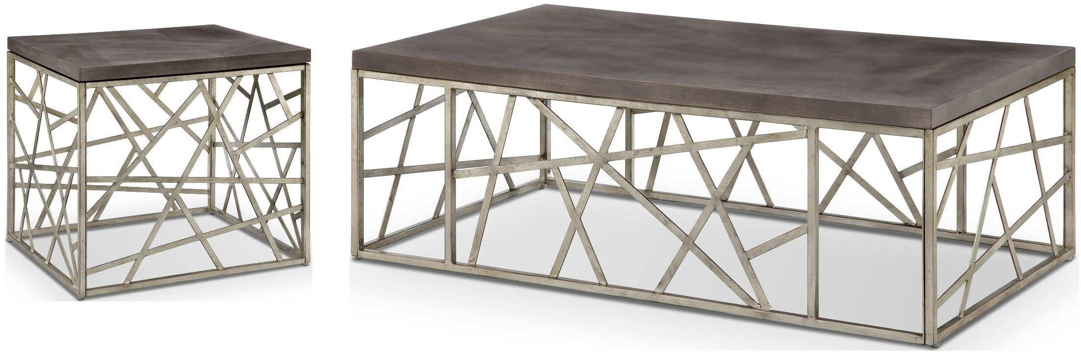 Most Popular Tribeca Contemporary Distressed Silver And Smoke Grey Coffee Tables In Tribeca Distressed Silver And Smoke Grey Occasional Table Set (View 9 of 20)