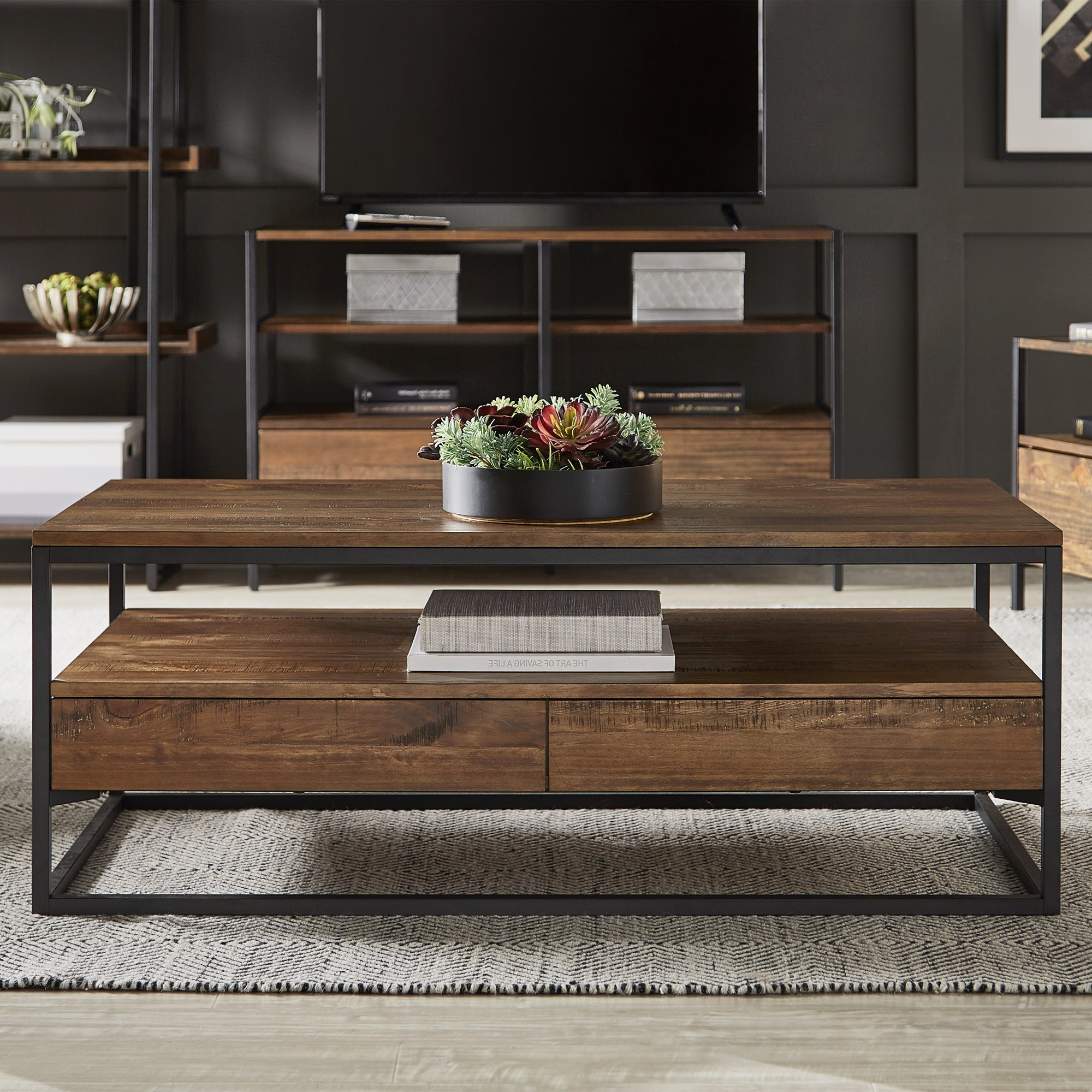 Most Recent Corey Rustic Brown Accent Tables Regarding Corey Rustic Brown Accent Tablesinspire Q Modern (View 6 of 20)