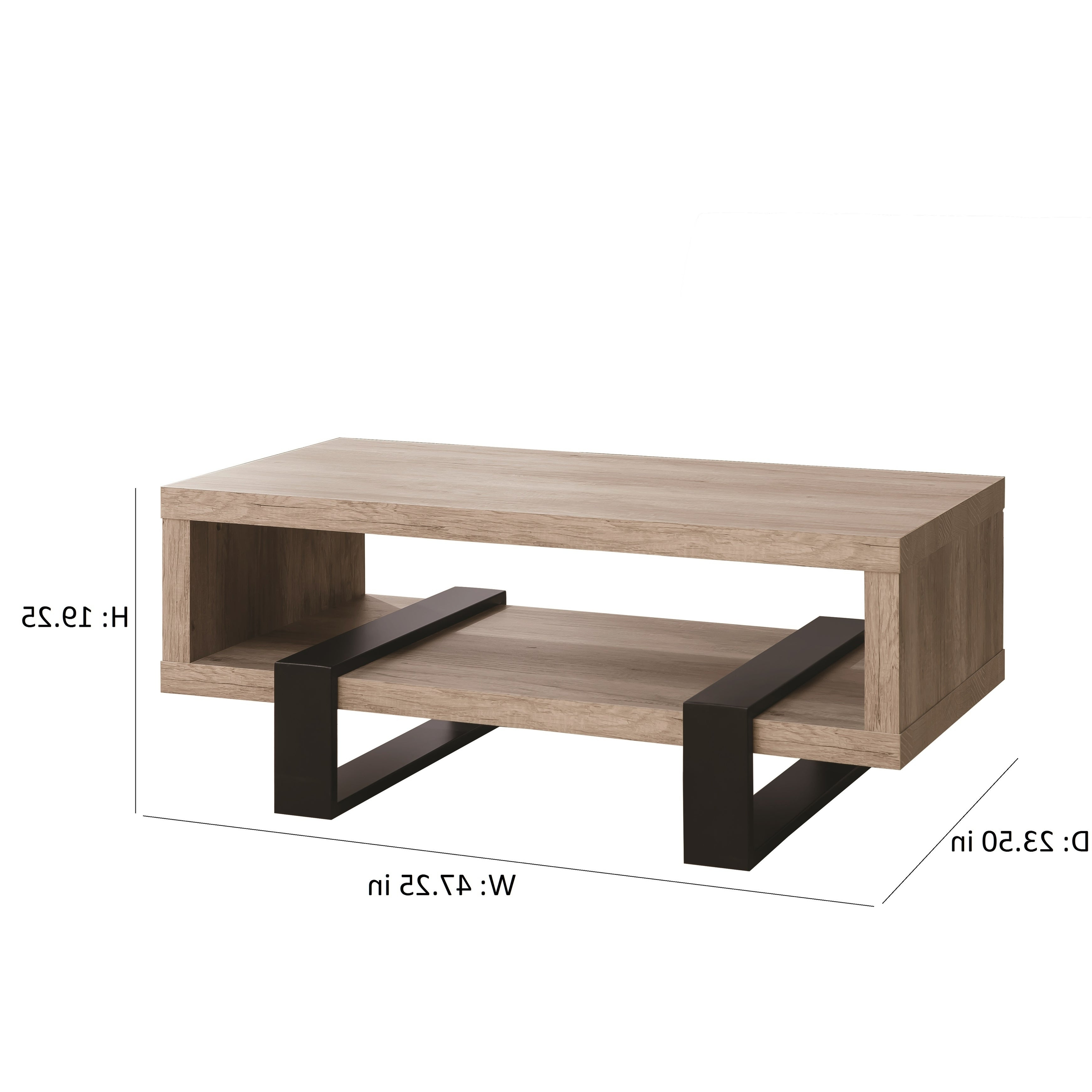 """Most Recent Dravens Industrial Cherry Coffee Tables Intended For Industrial Grey Driftwood Open Coffee Table – 47.25"""" X 23.50"""" X (View 13 of 20)"""