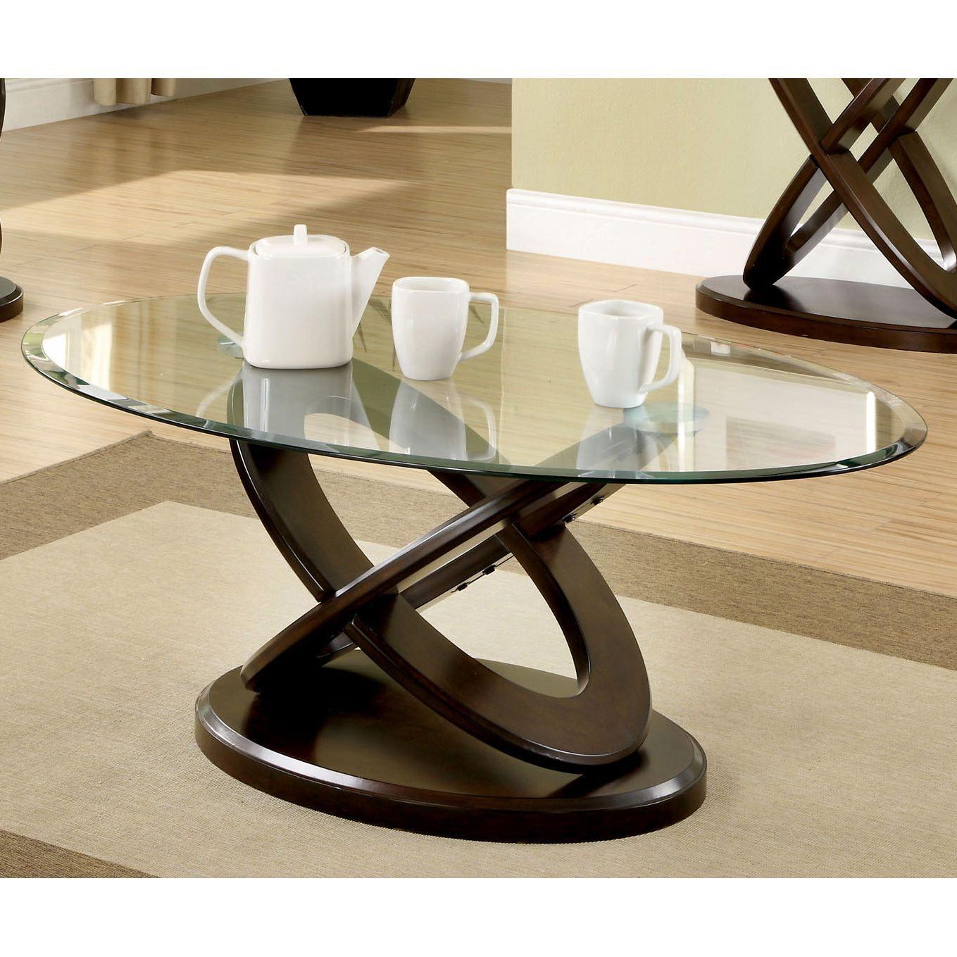 Featured Photo of Evalline Modern Dark Walnut Coffee Tables