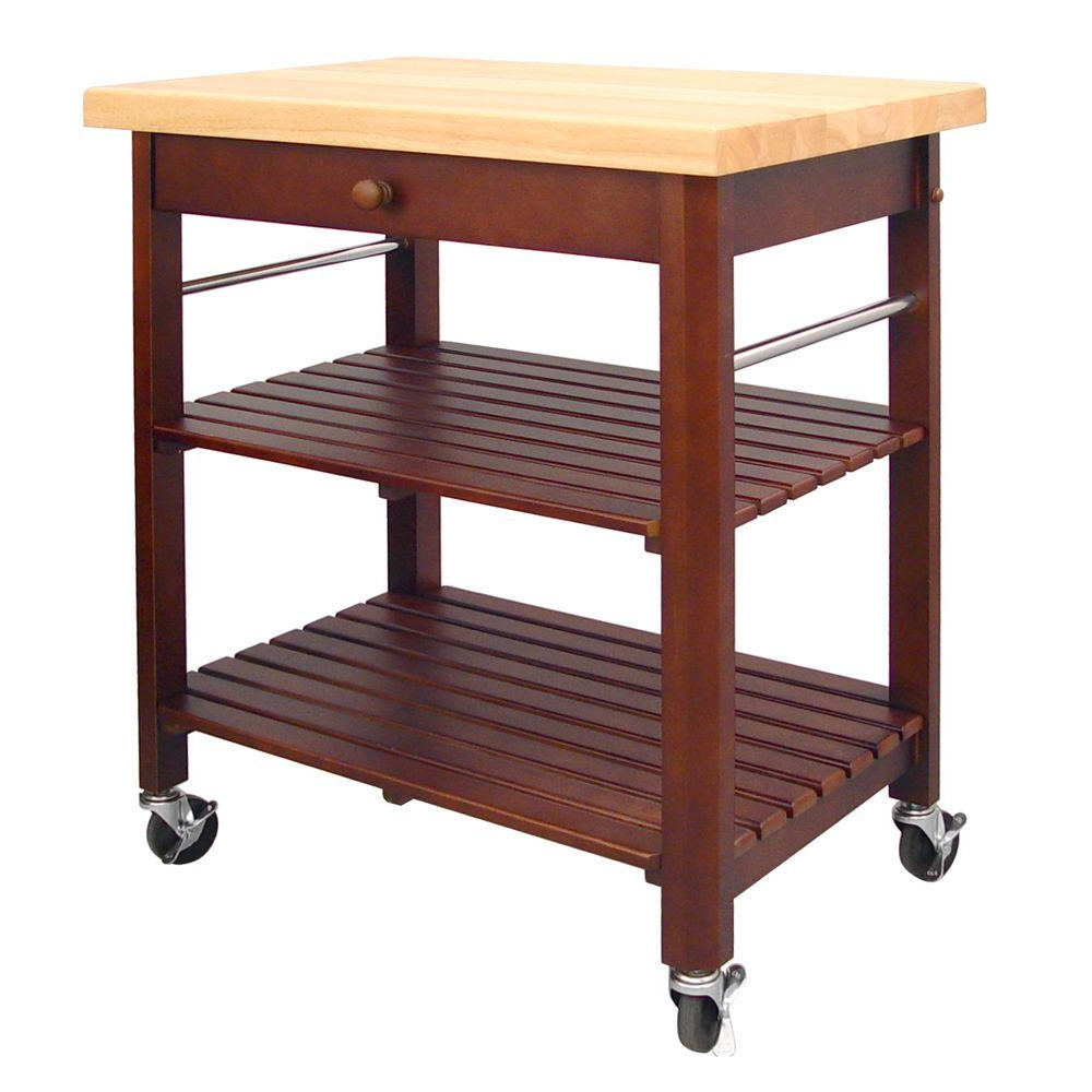 Most Recent Gracewood Hollow Dones Traditional Cinnamon Round End Tables For Roll About Cart Kitchen Island Cherry – Kitchen Appliances (View 13 of 20)