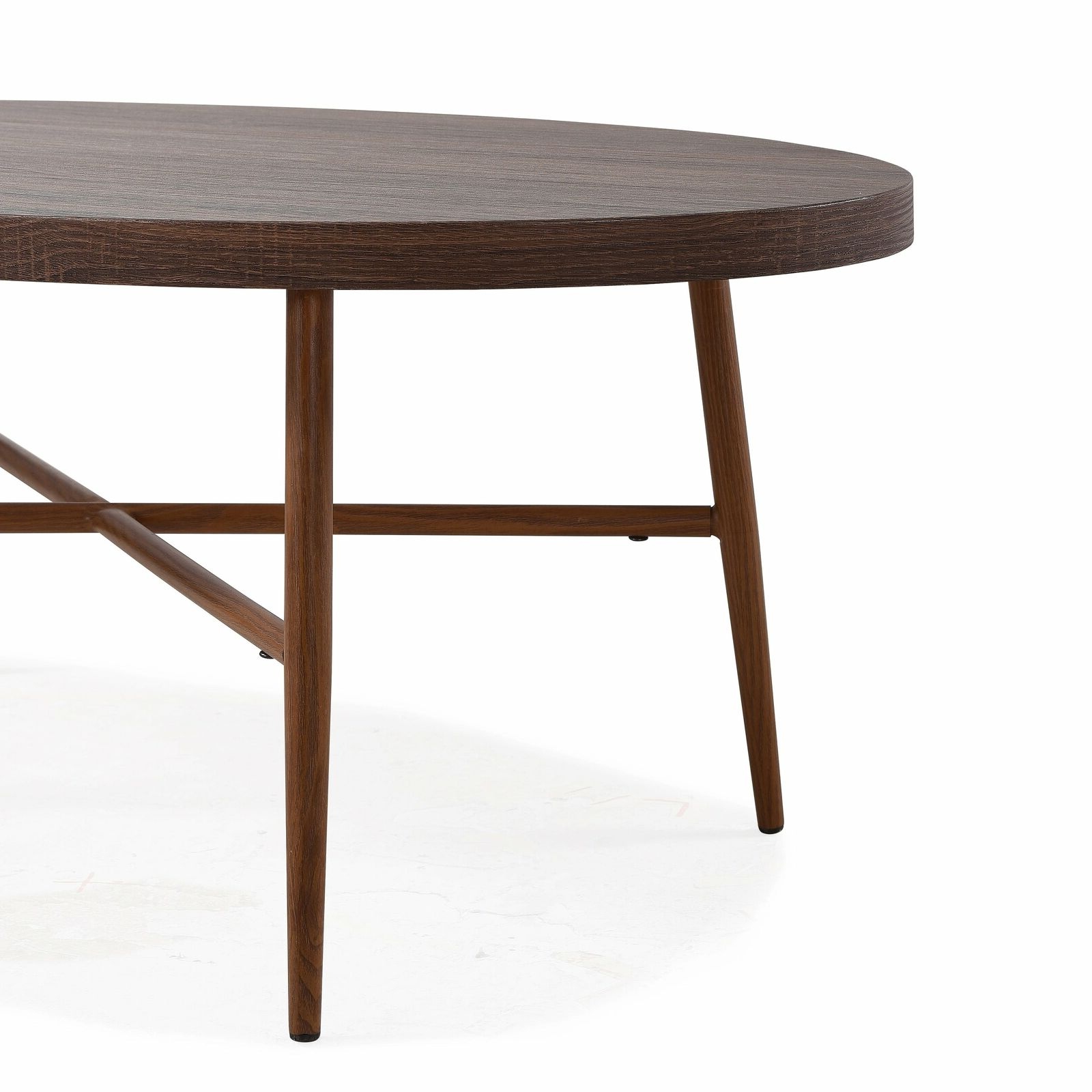 Most Recent Handy Living Miami White Oval Coffee Tables With Brown Metal Legs In Handy Living Miami Brown Oval Coffee Table With Brown Metal Brown (View 18 of 20)