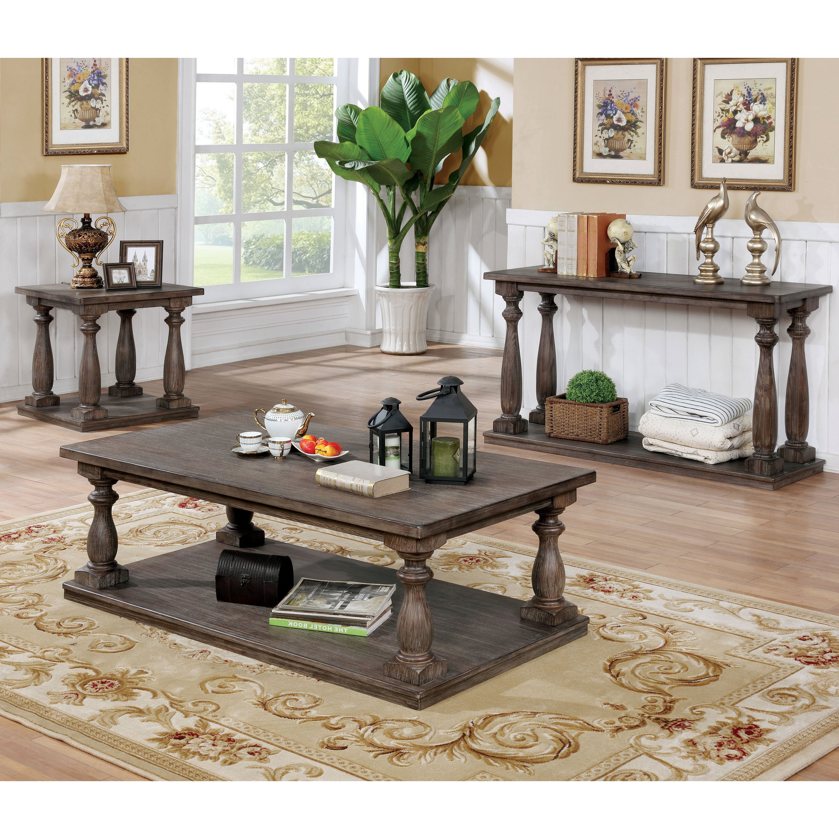 Most Recent Jessa Rustic Country 54 Inch Coffee Tables Regarding Jessa Rustic Country 54 Inch Coffee Tablefoa (View 3 of 20)