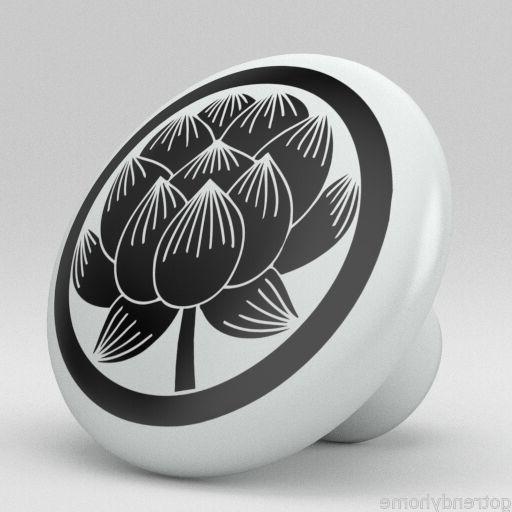 Most Recent Lotus Flower Ceramic Knobs Pulls Kitchen Drawer Cabinet Vanity Closet 482  Pantry With Regard To Lotus Kitchen Pantry (View 12 of 20)