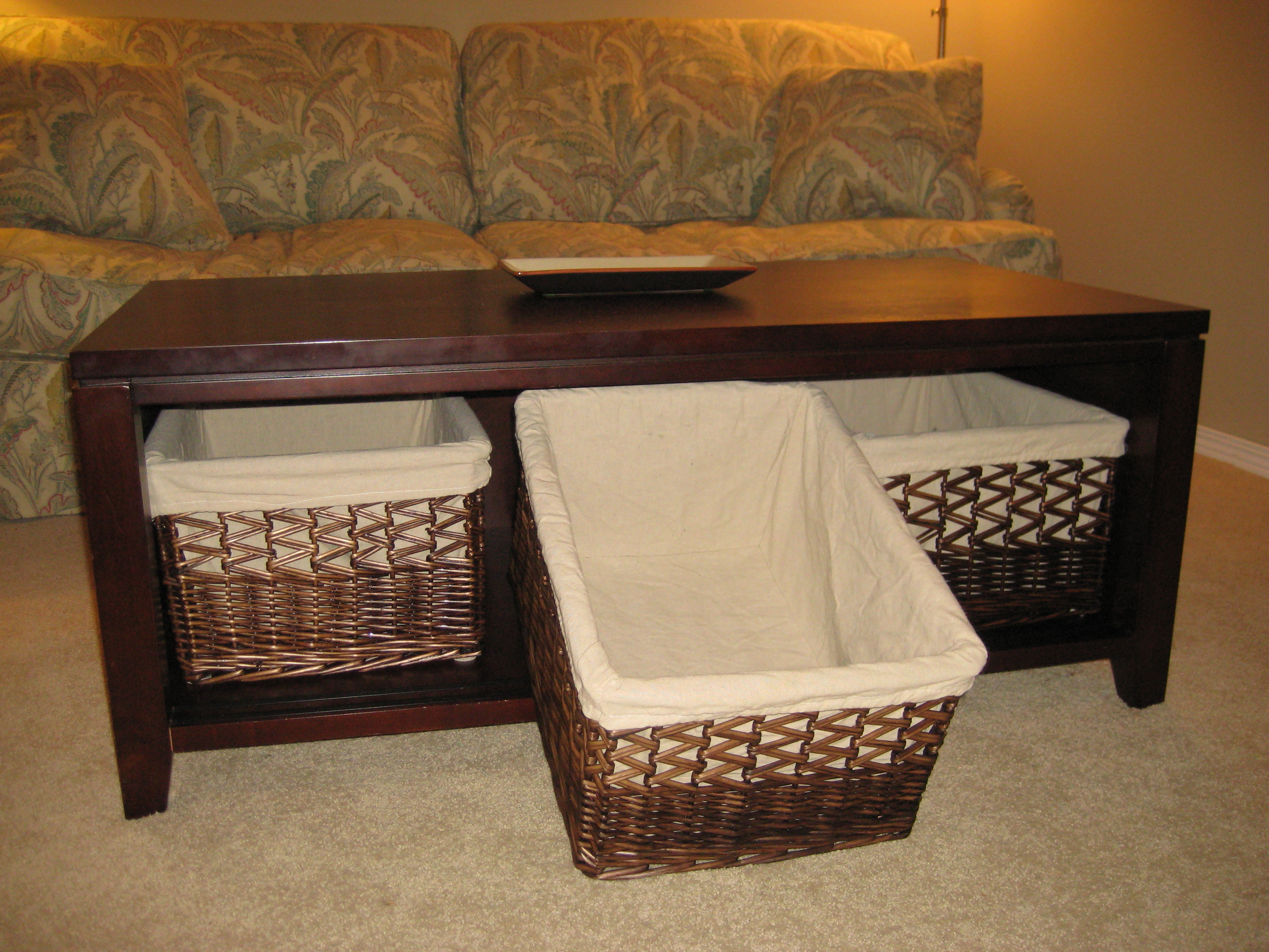 Most Recent Rustic Coffee Tables With Wicker Storage Baskets For Decorative Baskets For Coffee Tables – Rascalartsnyc (View 6 of 20)
