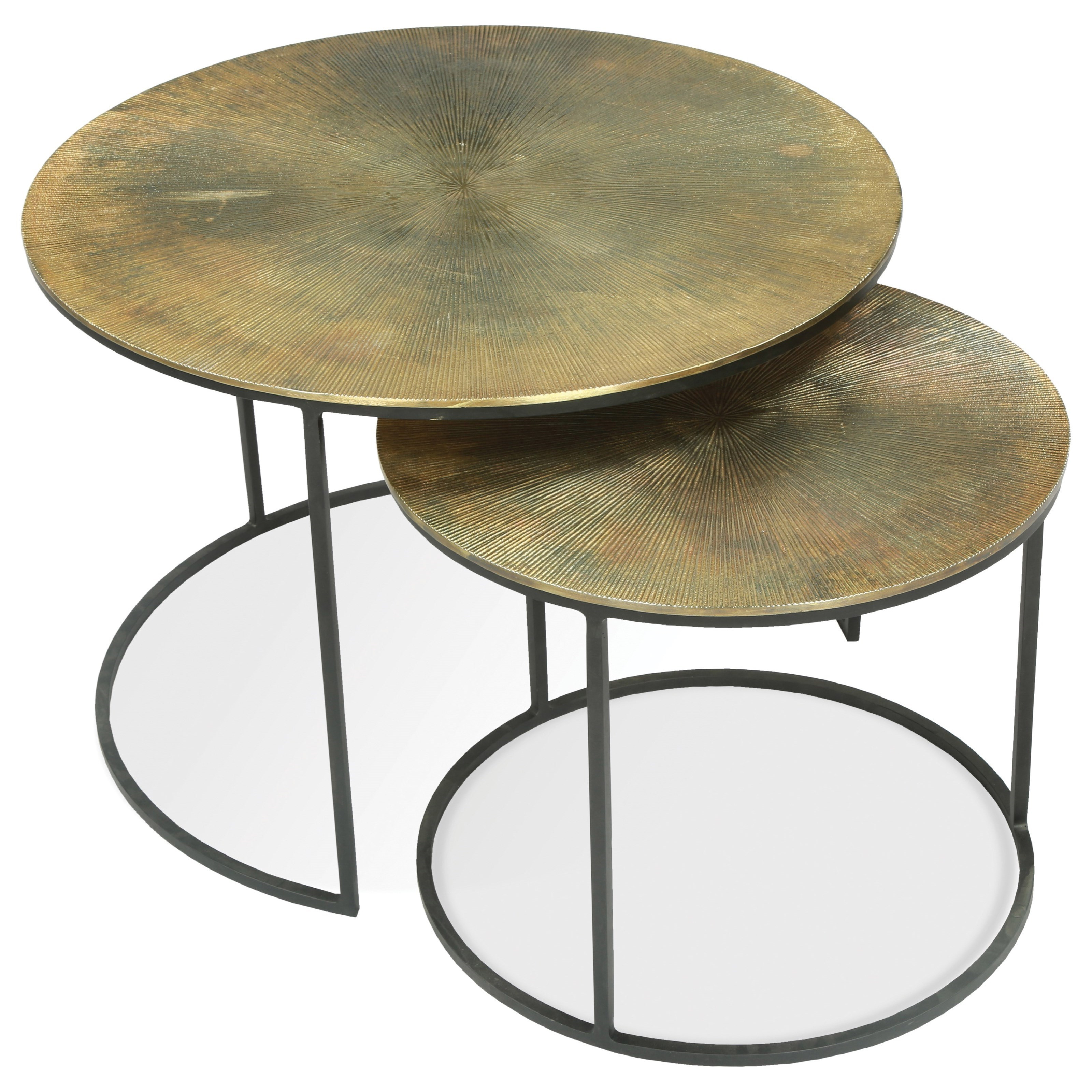 Most Recent Silver Orchid Grant Glam Nesting Cocktail Tables Inside Riverside Furniture Portia 53209 Nesting Coffee Tables With (View 19 of 20)