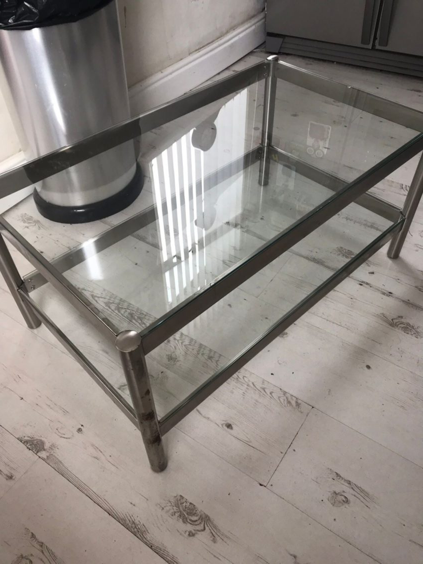 Most Recent Silver Orchid Grant Glam Nesting Cocktail Tables Within Coffee Table Design: Silver Metal Glass Coffee Table Height (View 20 of 20)