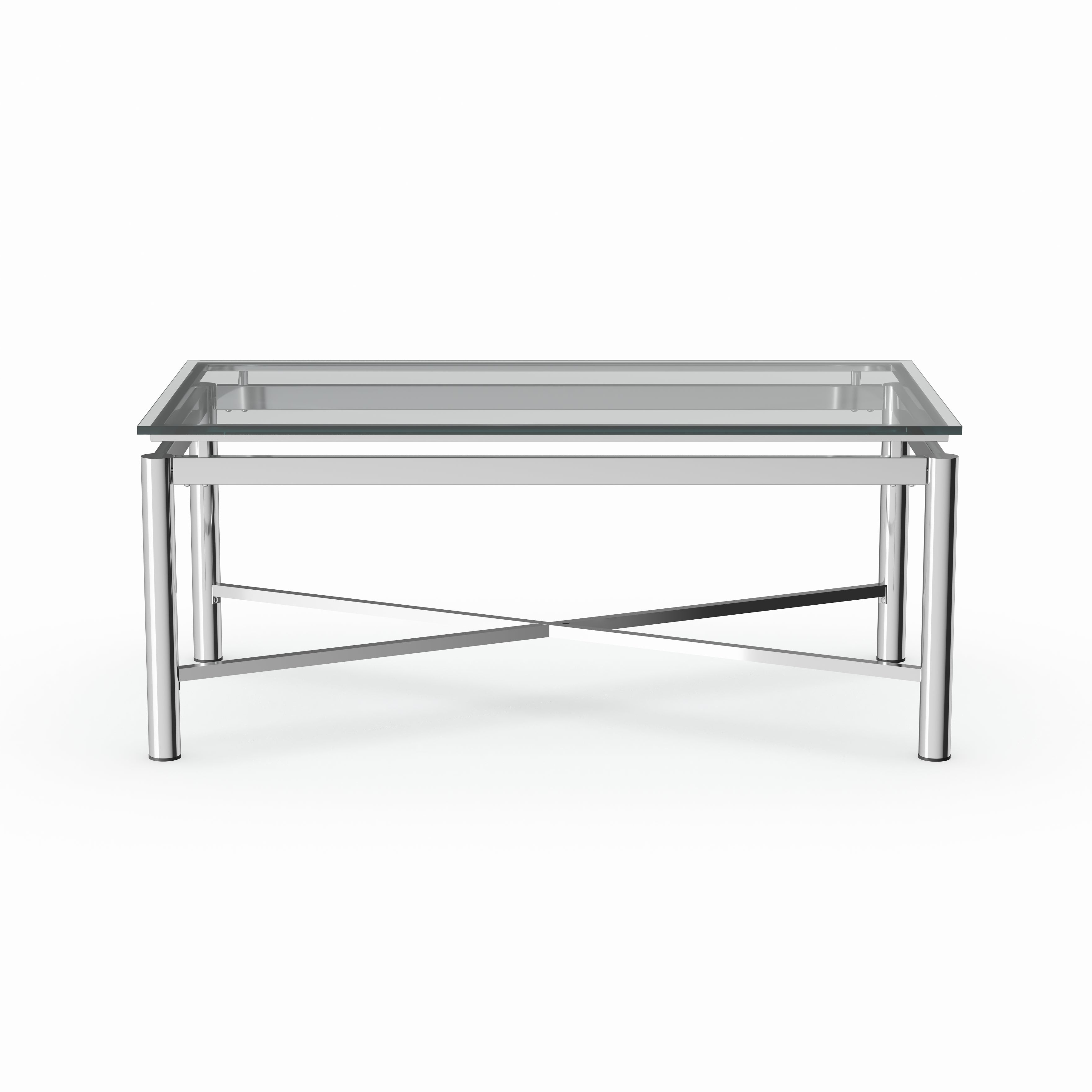 Most Recent Strick & Bolton Florence Chrome Coffee Tables Inside Strick & Bolton Jules Chrome And Glass Coffee Table (View 12 of 20)