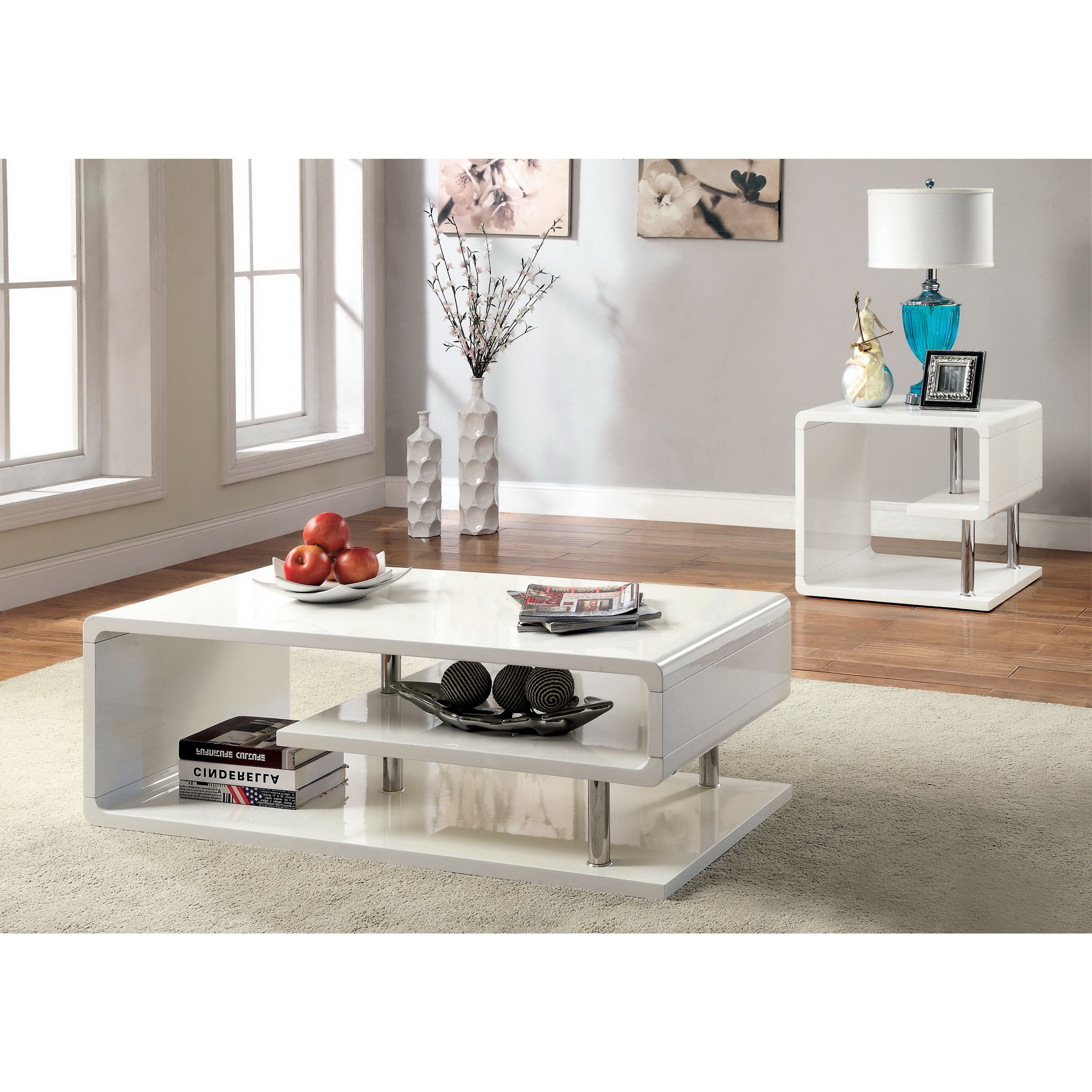 Most Recent Strick & Bolton Sylvia Geometric High Gloss Coffee Tables Pertaining To Strick & Bolton Sylvia Geometric High Gloss End Table (View 3 of 20)