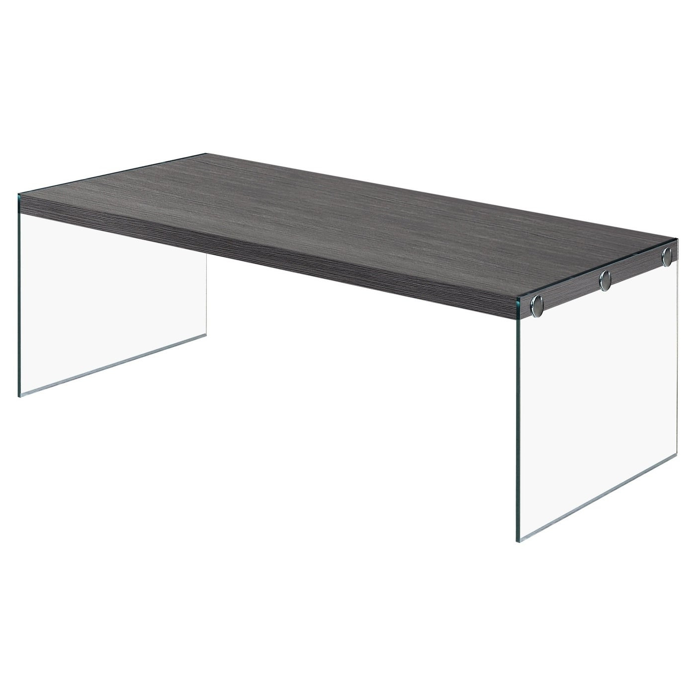 Most Recent Tribeca Contemporary Distressed Silver And Smoke Grey Coffee Tables For Grey Veneer And Glass Contemporary Coffee Table (View 10 of 20)