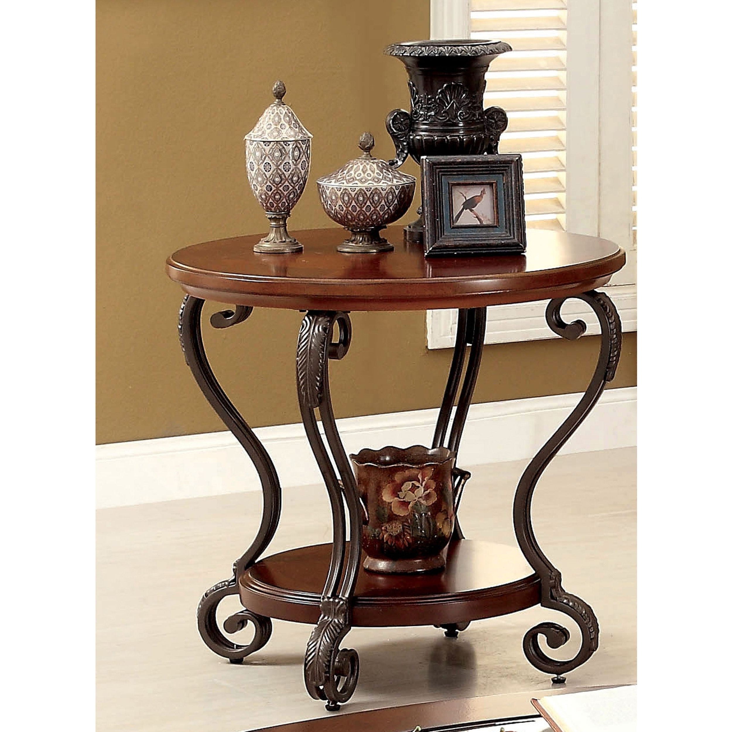 Most Recently Released Cohler Traditional Brown Cherry Oval Coffee Tables For Cohler Traditional Brown Cherry 2 Piece Coffee Table Setfoa (View 14 of 20)