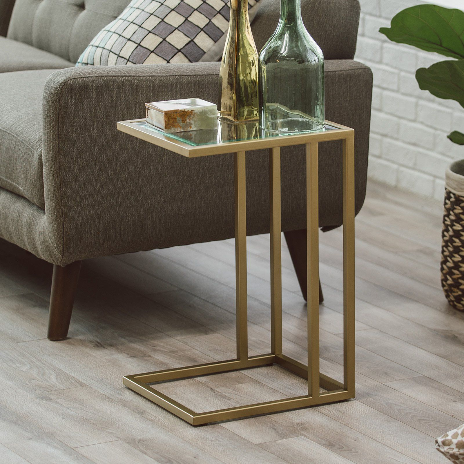 Most Recently Released Copper Grove Obsidian Black Tempered Glass Apartment Coffee Tables With Regard To Belham Living Lamont C Table – Gold (View 13 of 20)