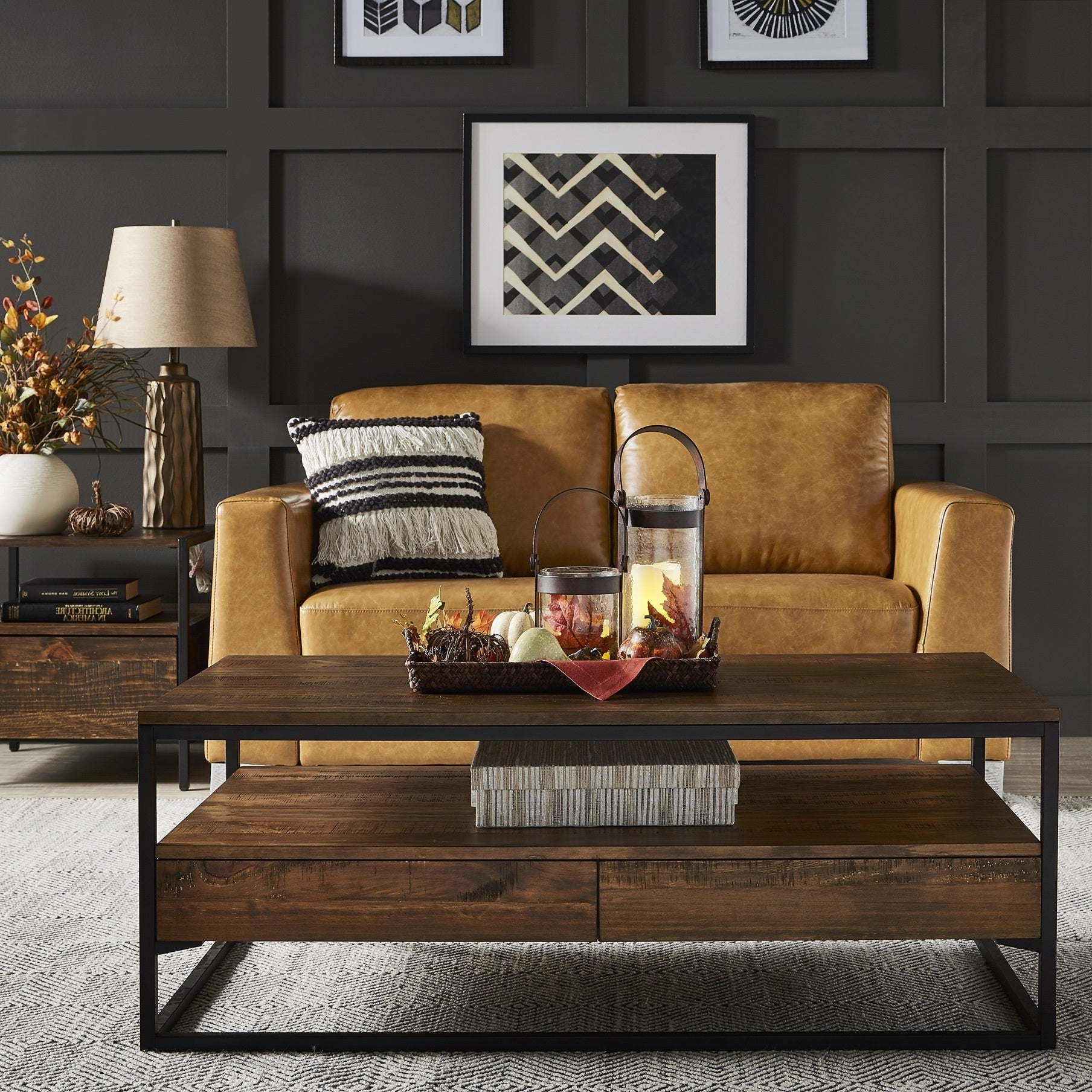 Most Recently Released Corey Rustic Brown Accent Tables Regarding Corey Rustic Brown Accent Tablesinspire Q Modern (View 2 of 20)