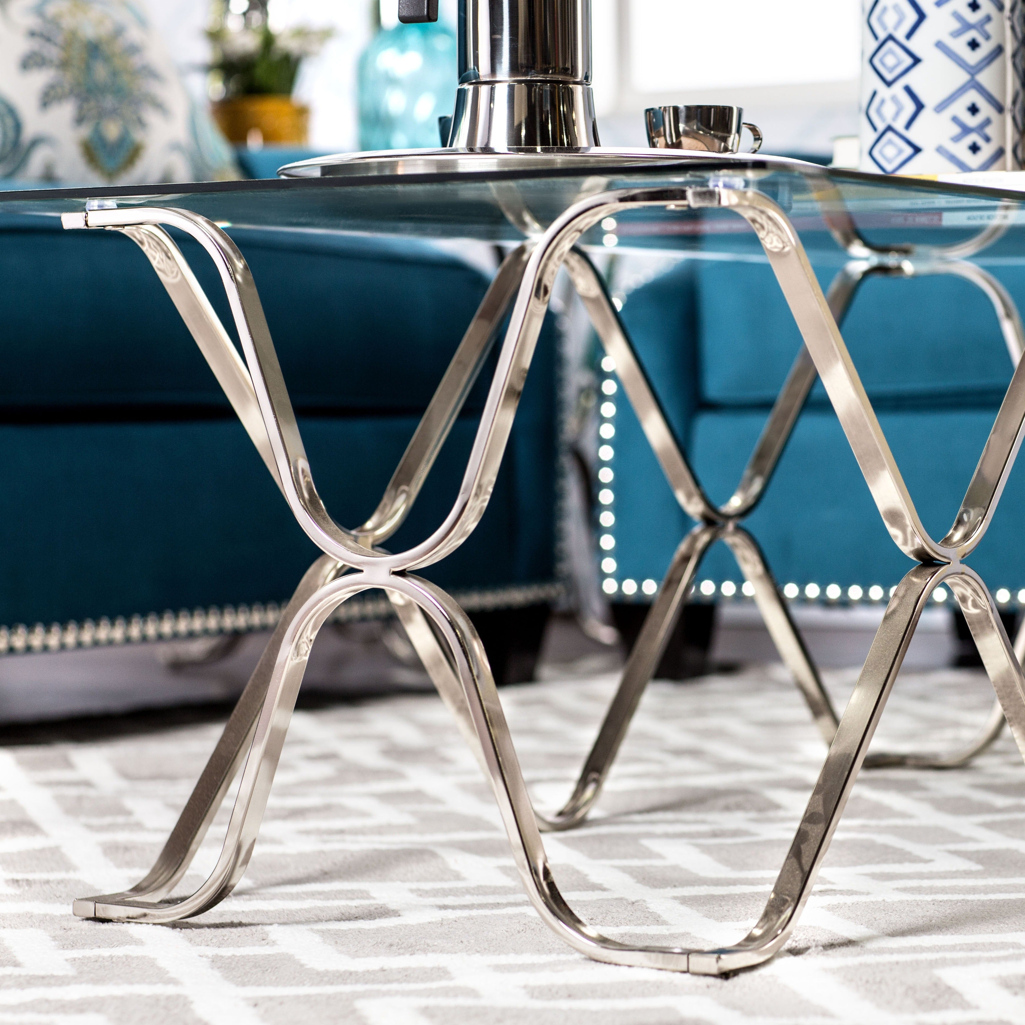 Most Recently Released Furniture Of America Tellarie Contemporary Chrome Coffee Tables Pertaining To Furniture Of America Tellarie Contemporary Chrome Coffee Table – Silver (View 3 of 20)