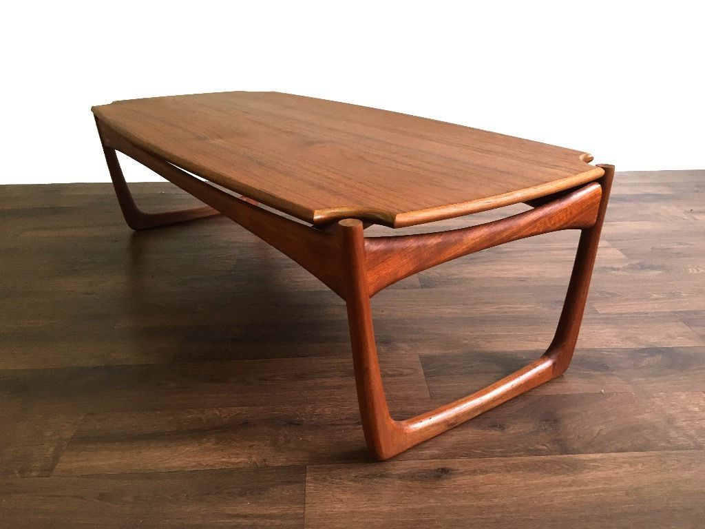 Most Recently Released Madison Park Avalon White Pecan Coffee Tables With Retro Scandinavian Teak Coffee Side Table – Vintage Mid (View 19 of 20)