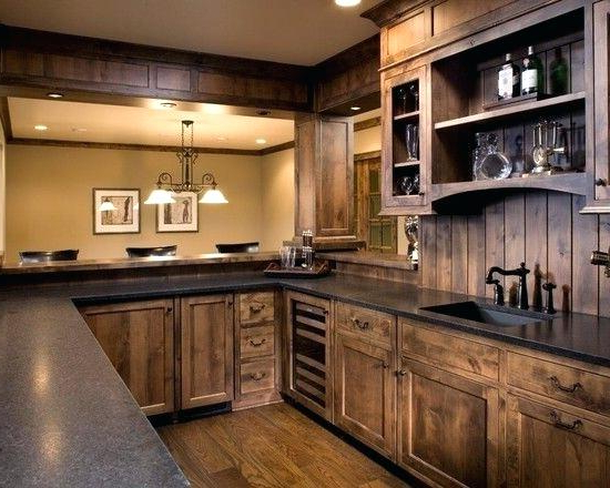 Most Recently Released Mihika Kitchen Pantry Pertaining To Tall Corner Kitchen Pantry Rustic Design With Cabinet And (View 11 of 20)