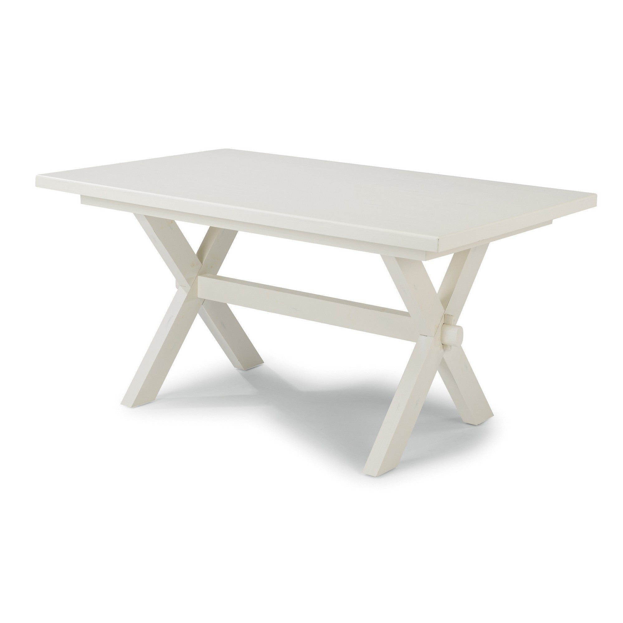 Most Recently Released Seaside Lodge Coffee Tables With Seaside Lodge Wire Brushed White Wood Dining Trestle Table (View 5 of 20)