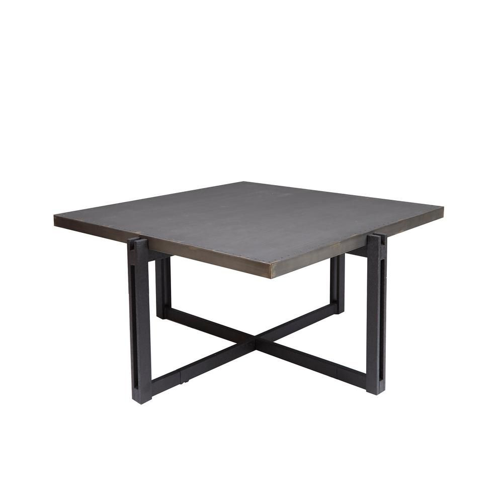 Most Recently Released Strick & Bolton Jules Chrome And Glass Coffee Tables For Silverwood Furniture Reimagined Dakota Bronze Square Metal (View 20 of 20)
