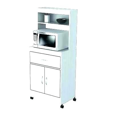 Most Recently Released White Microwave Cart – Kampungqurban (View 13 of 20)