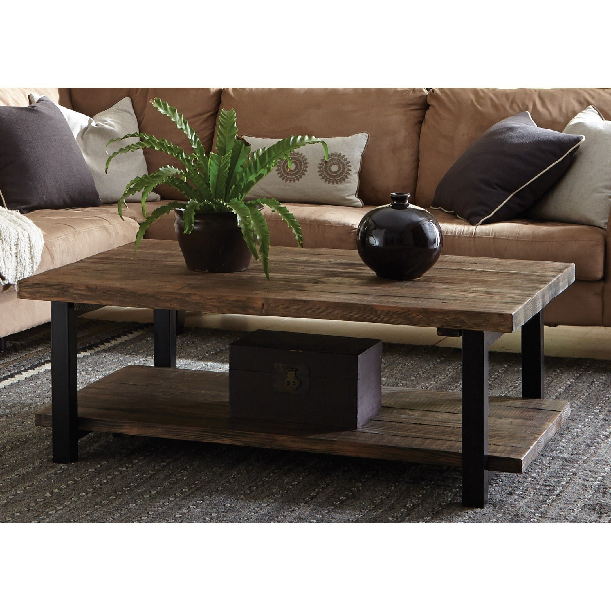 Featured Photo of Carbon Loft Lawrence Metal And Reclaimed Wood Coffee Tables