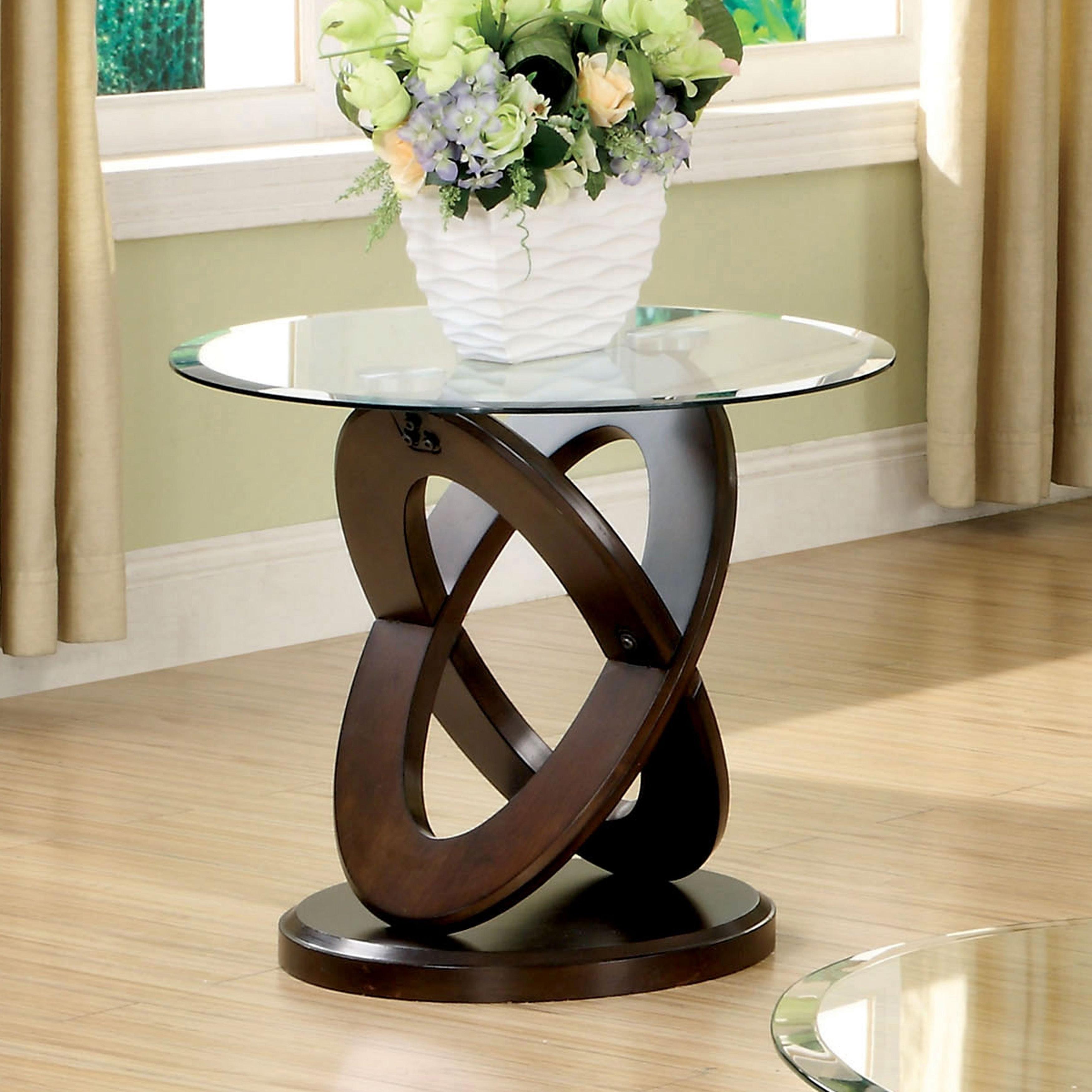 Most Up To Date Evalline Modern Dark Walnut Coffee Tables Intended For Evalline Modern Dark Walnut Round End Tablefoa (View 3 of 20)
