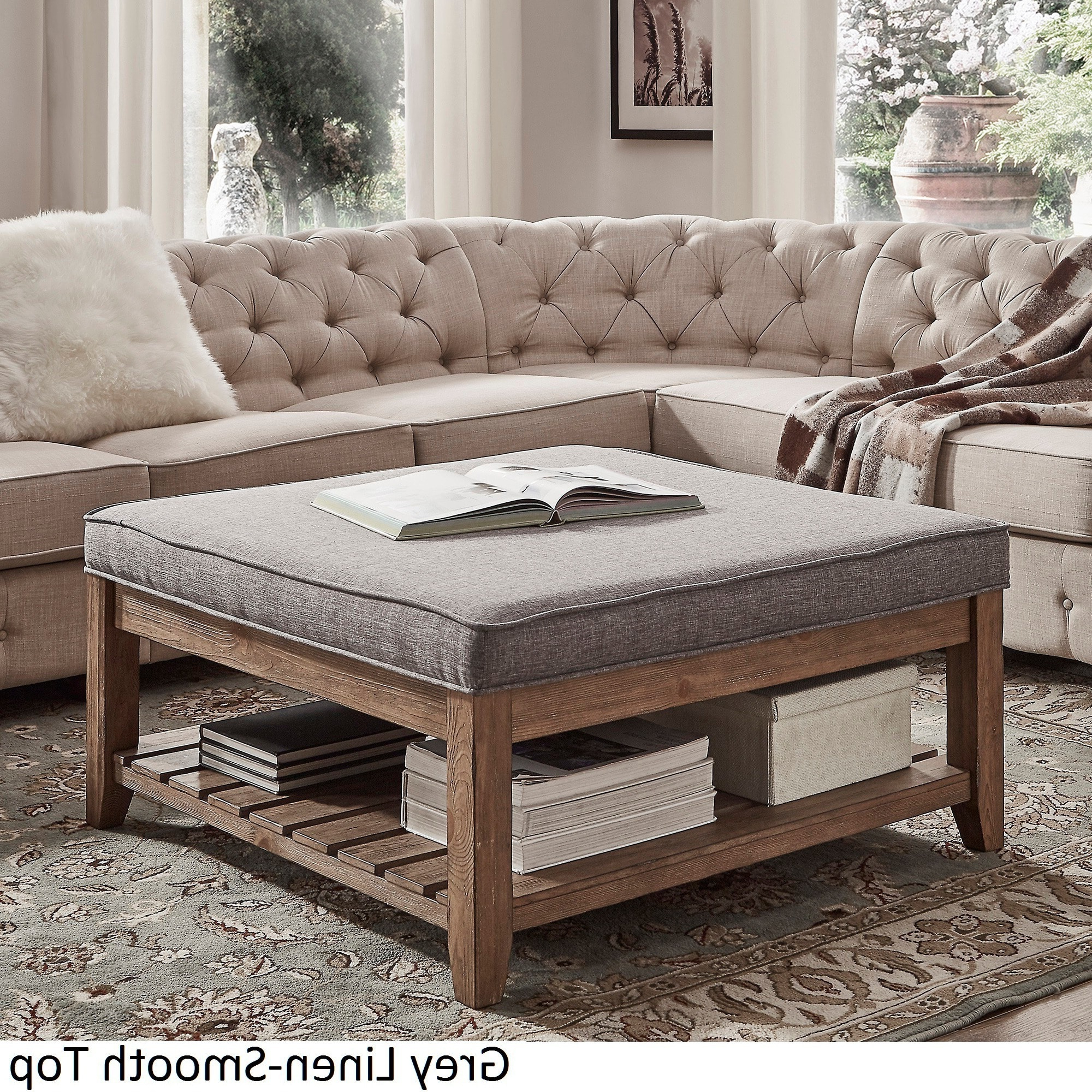 Most Up To Date Lennon Pine Planked Storage Ottoman Coffee Tables Intended For Inspire Q Lennon Pine Planked Storage Ottoman Coffee Tableartisan (View 3 of 20)