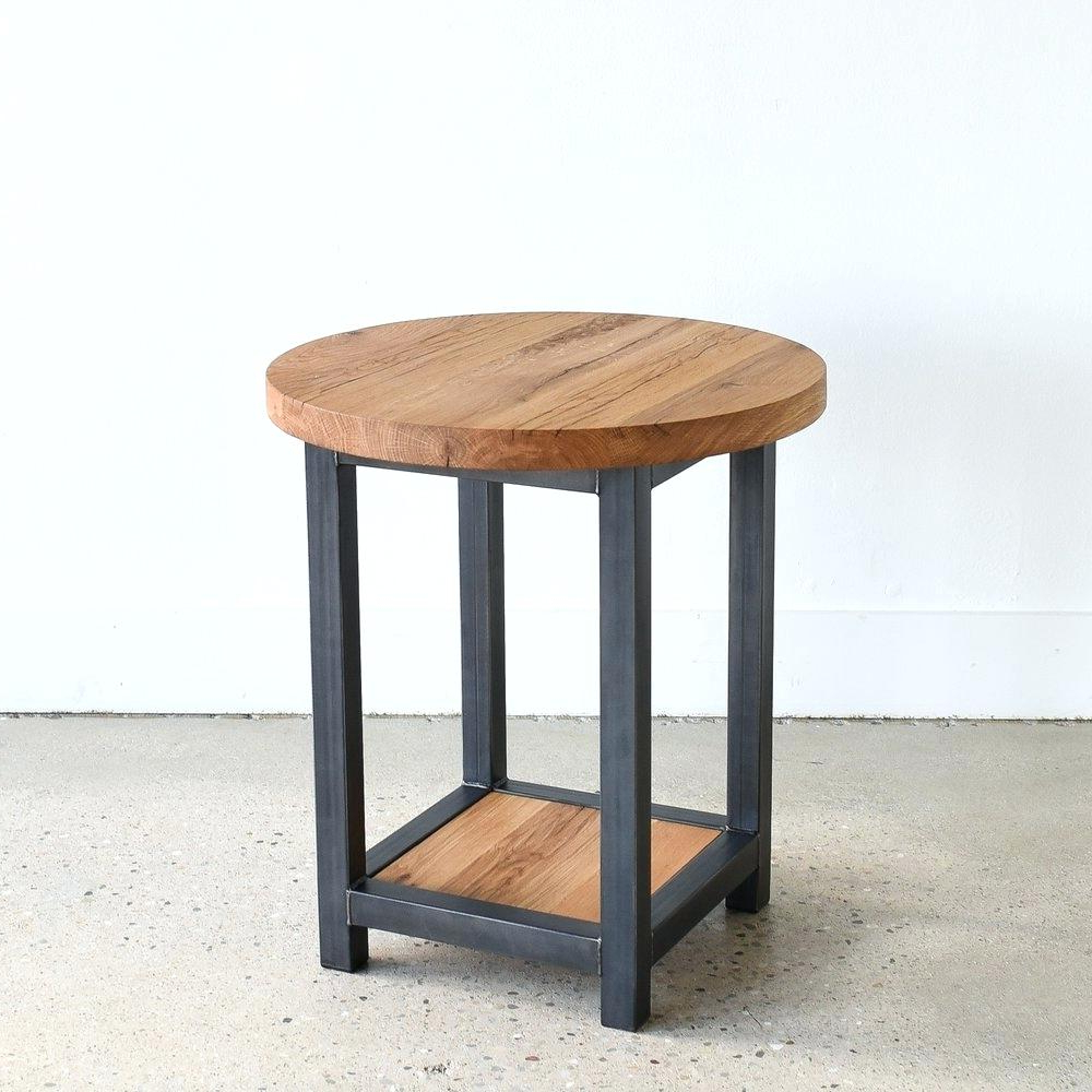 Most Up To Date Montgomery Industrial Reclaimed Wood Coffee Tables With Casters Inside Reclaimed Wood End Tables – Scotarchambeault (View 14 of 20)