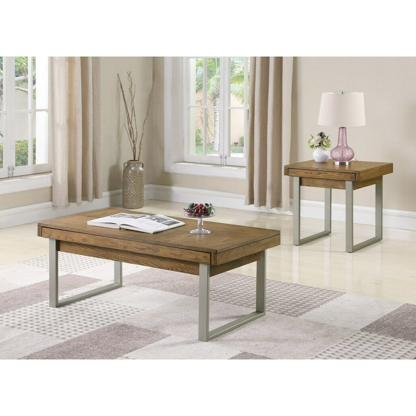Most Up To Date Strick & Bolton Florence Chrome Coffee Tables Within Strick & Bolton Kramer Golden Oak Coffee Table Brown (View 20 of 20)