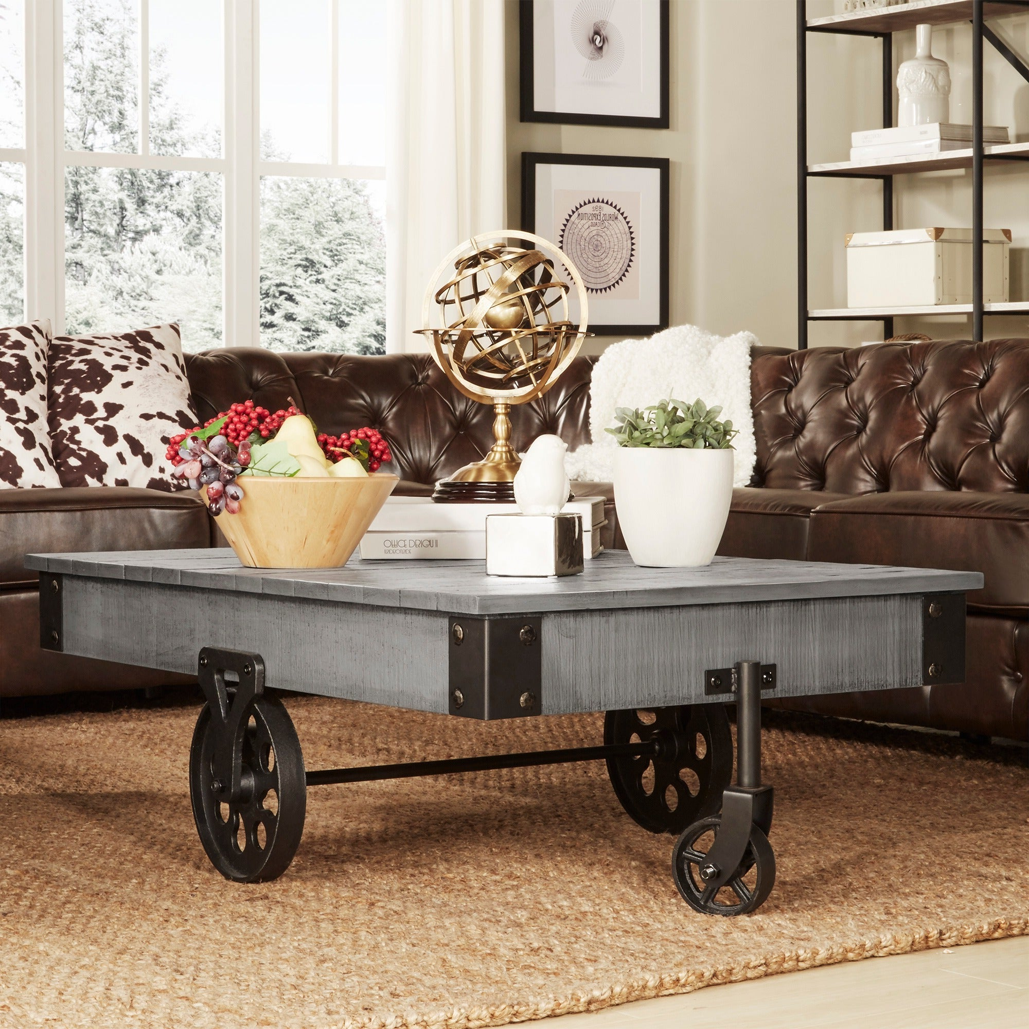 Featured Photo of Myra Vintage Industrial Modern Rustic 47 Inch Coffee Tables