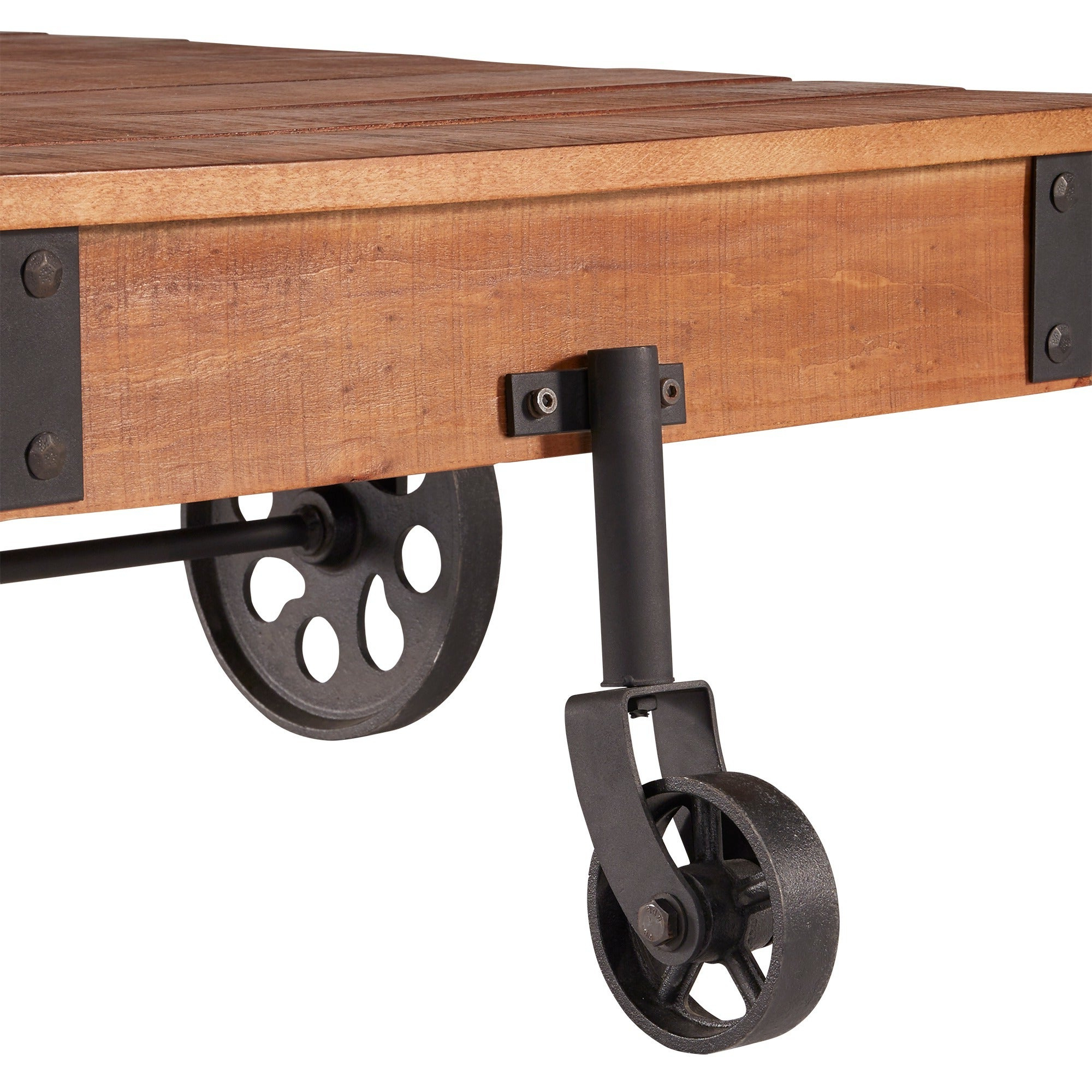 Myra Vintage Industrial Modern Rustic 47 Inch Coffee Tableinspire Q  Classic Throughout Well Known Myra Vintage Industrial Modern Rustic 47 Inch Coffee Tables (View 13 of 20)