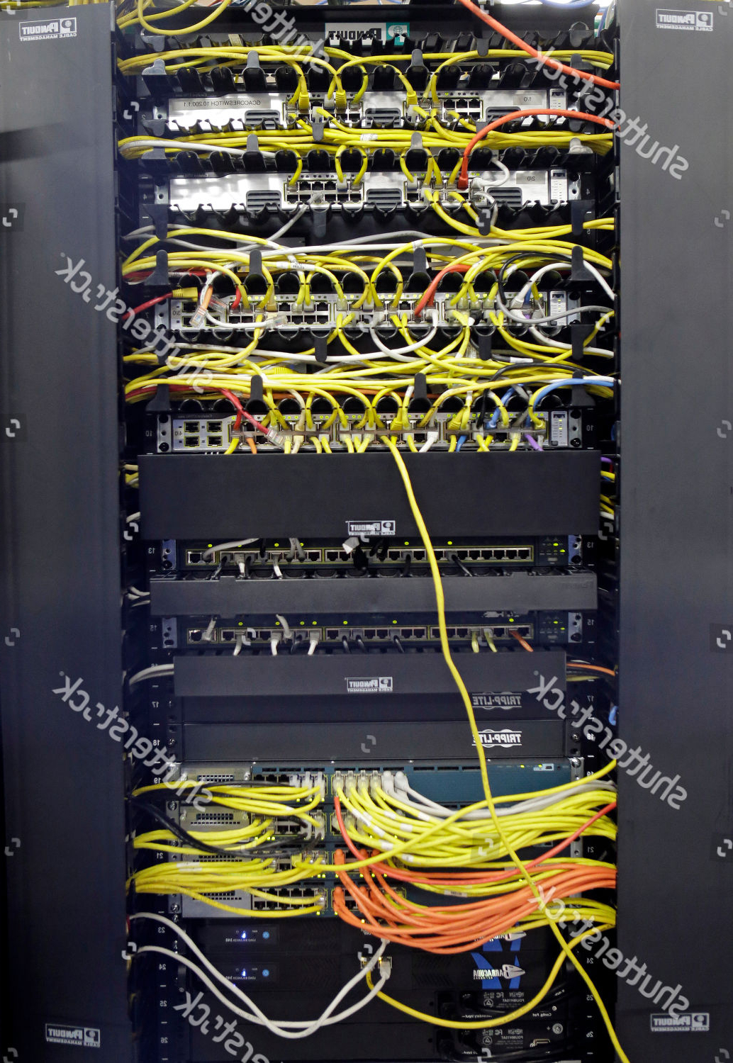 Network Patch Panel Shown Server Room Bluebridge Editorial Within Cleveland Server (View 9 of 20)
