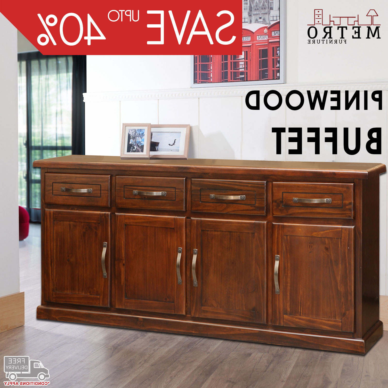 New Modern Traditional Buffet Sideboard Table With Cabinets Within Metro Sideboards (View 16 of 20)