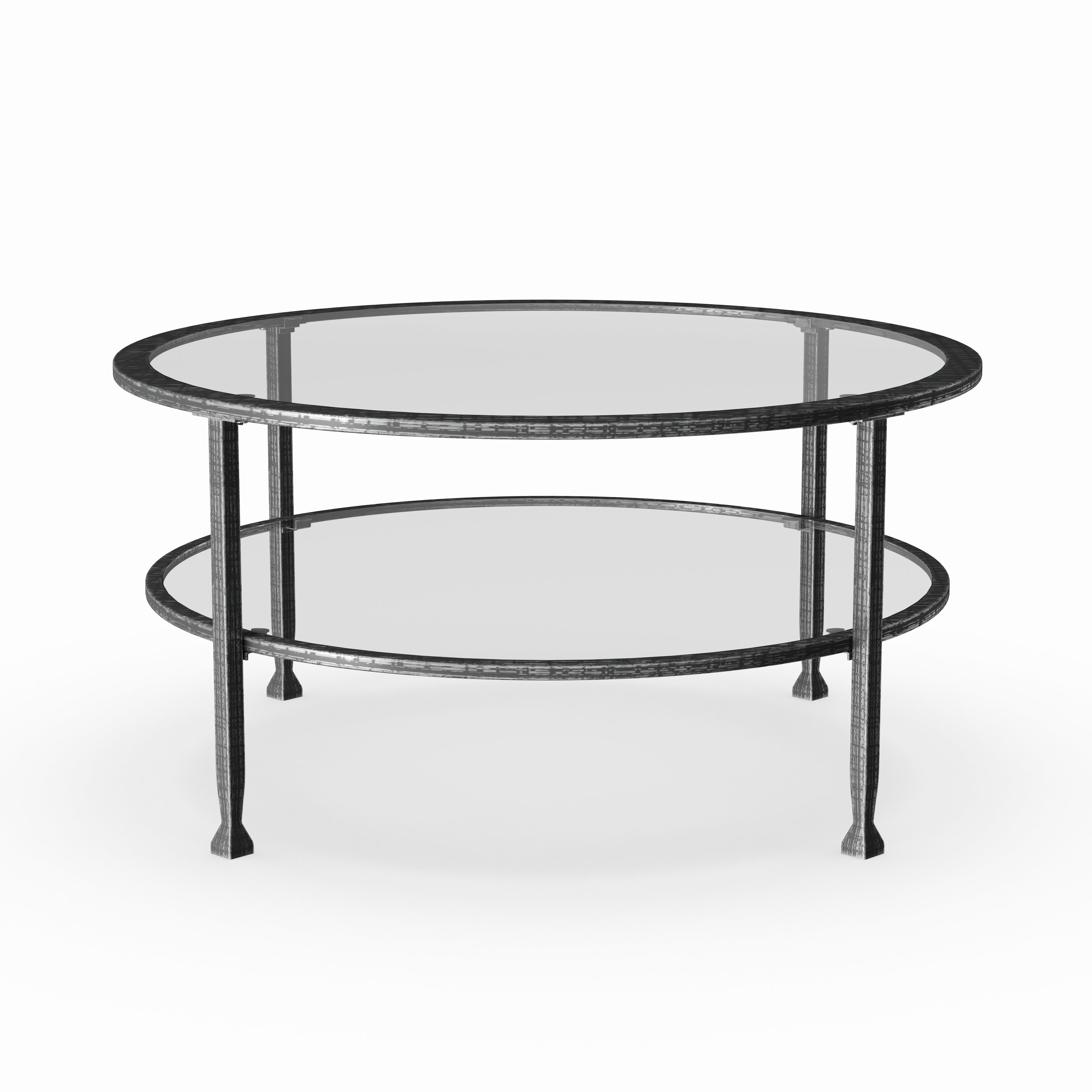 Newest Carbon Loft Heimlich Metal Glass Rectangle Coffee Tables With Carbon Loft Glenn Metal/ Glass Round Cocktail Table (View 14 of 20)